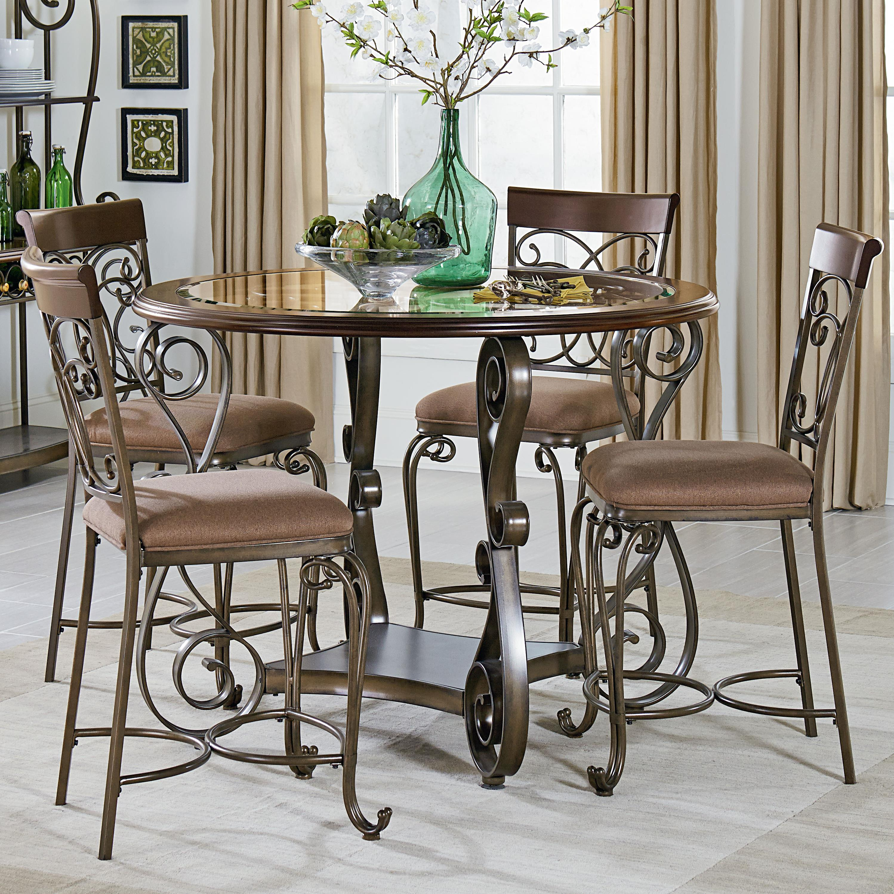 standard furniture bombay round counter height table and chair set olinde 39 s furniture pub. Black Bedroom Furniture Sets. Home Design Ideas