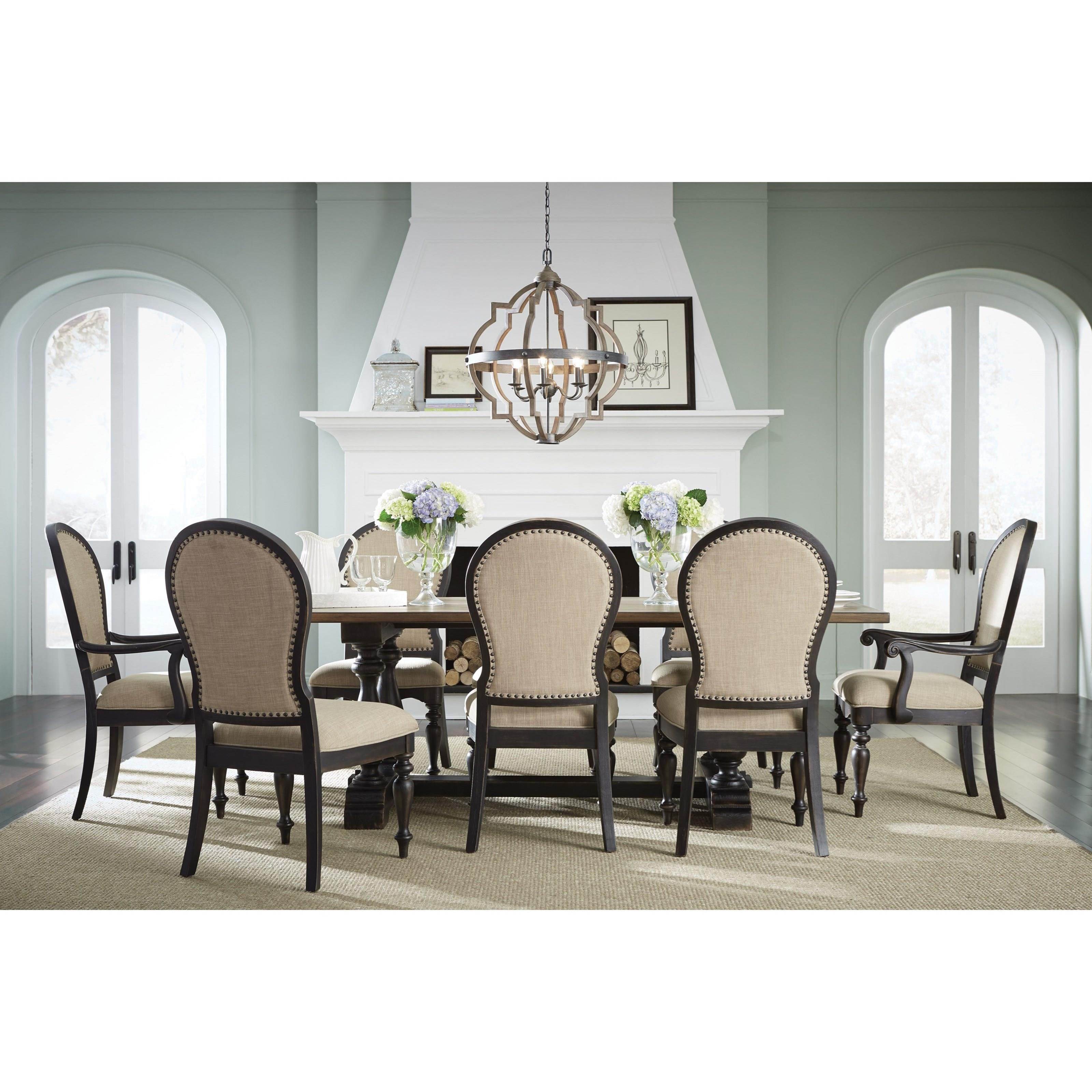 standard furniture cambria 12284 two tone upholstered side chair dunk bright furniture. Black Bedroom Furniture Sets. Home Design Ideas
