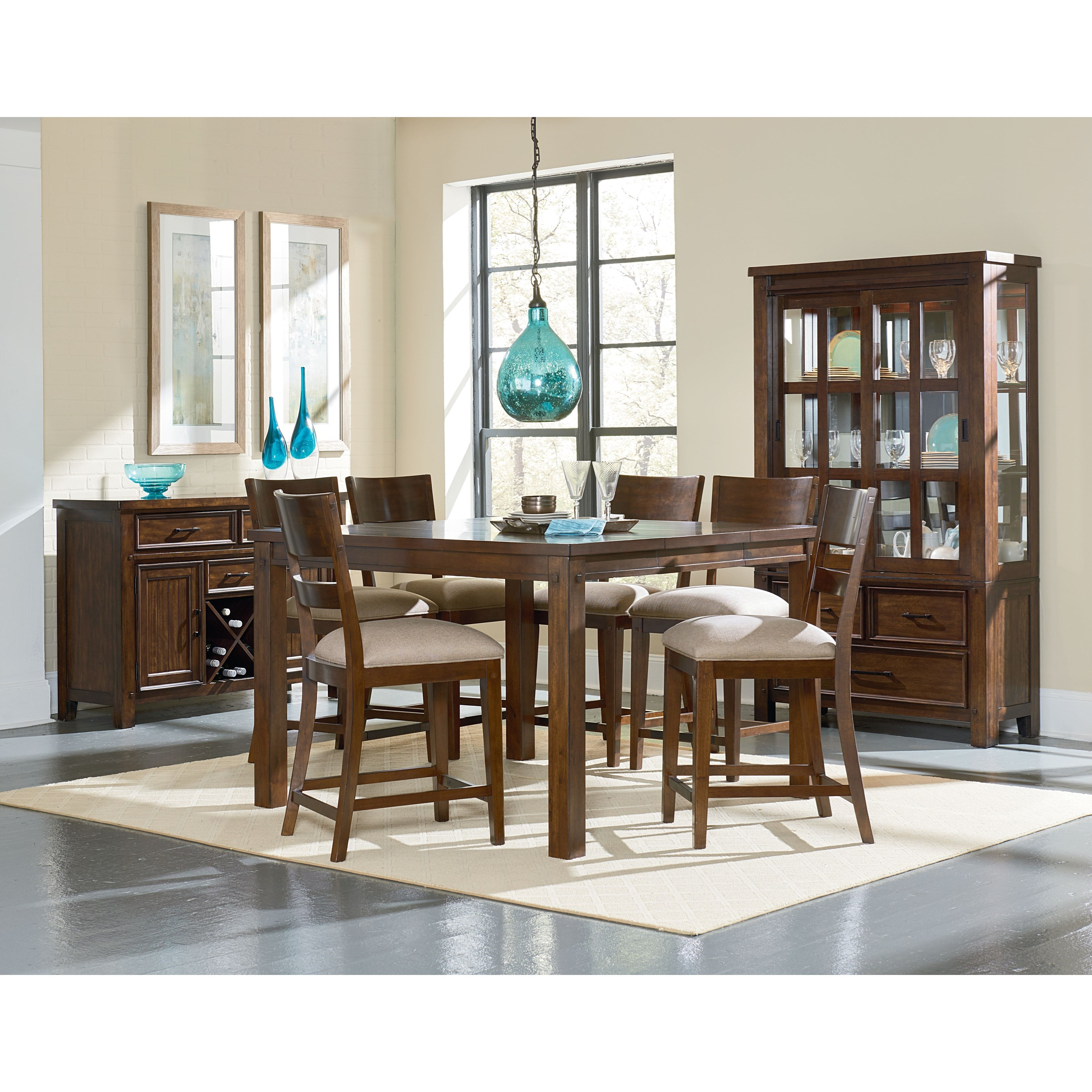 Zenith cameron casual dining room group efo furniture for Casual dining room