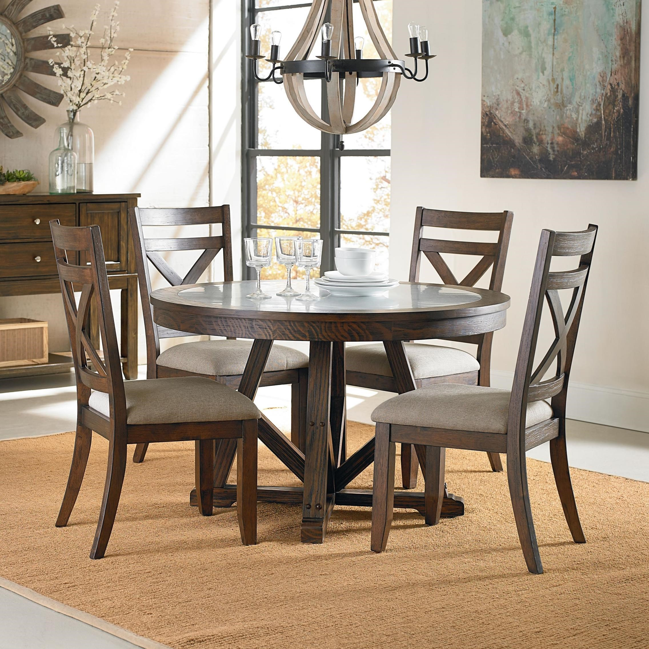 standard furniture carter rustic table and chair set