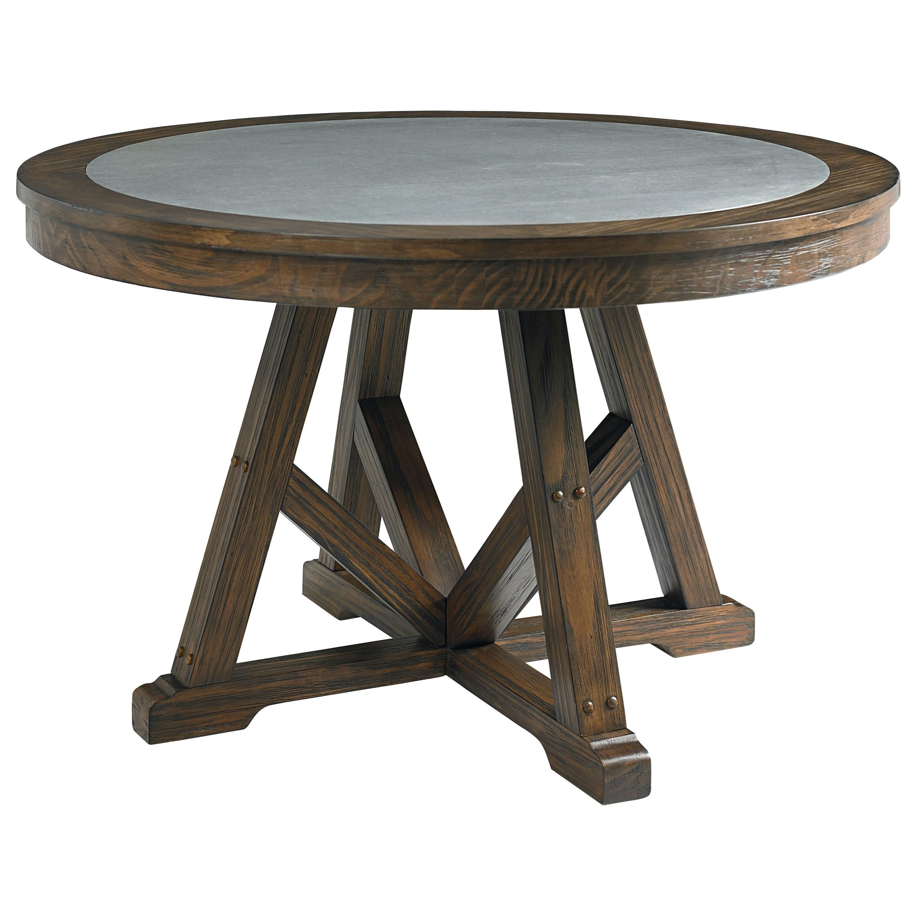 Standard furniture carter 10881 round dining table with for Standard dining table
