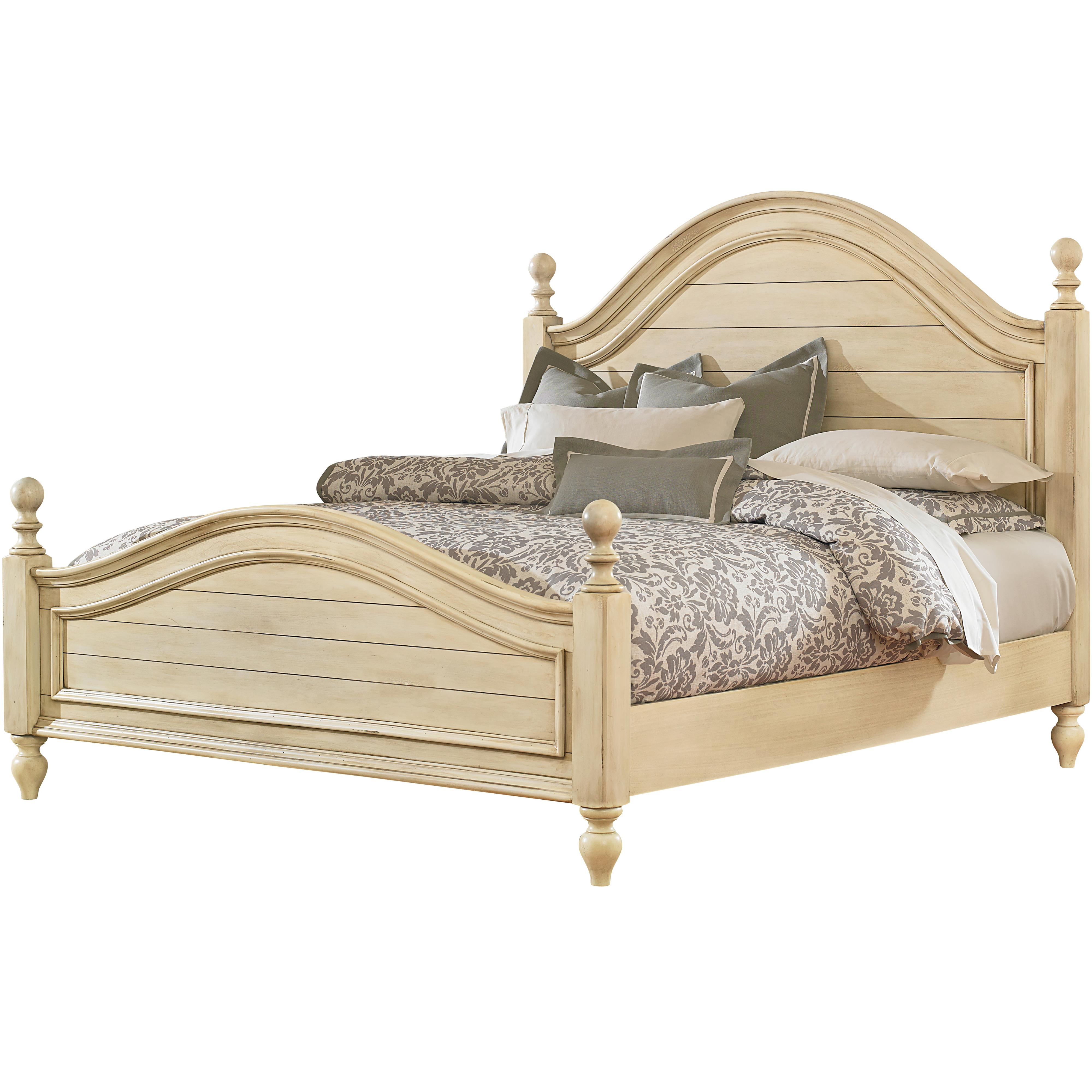Chateau king bed with arched headboard and footboard by for King footboard
