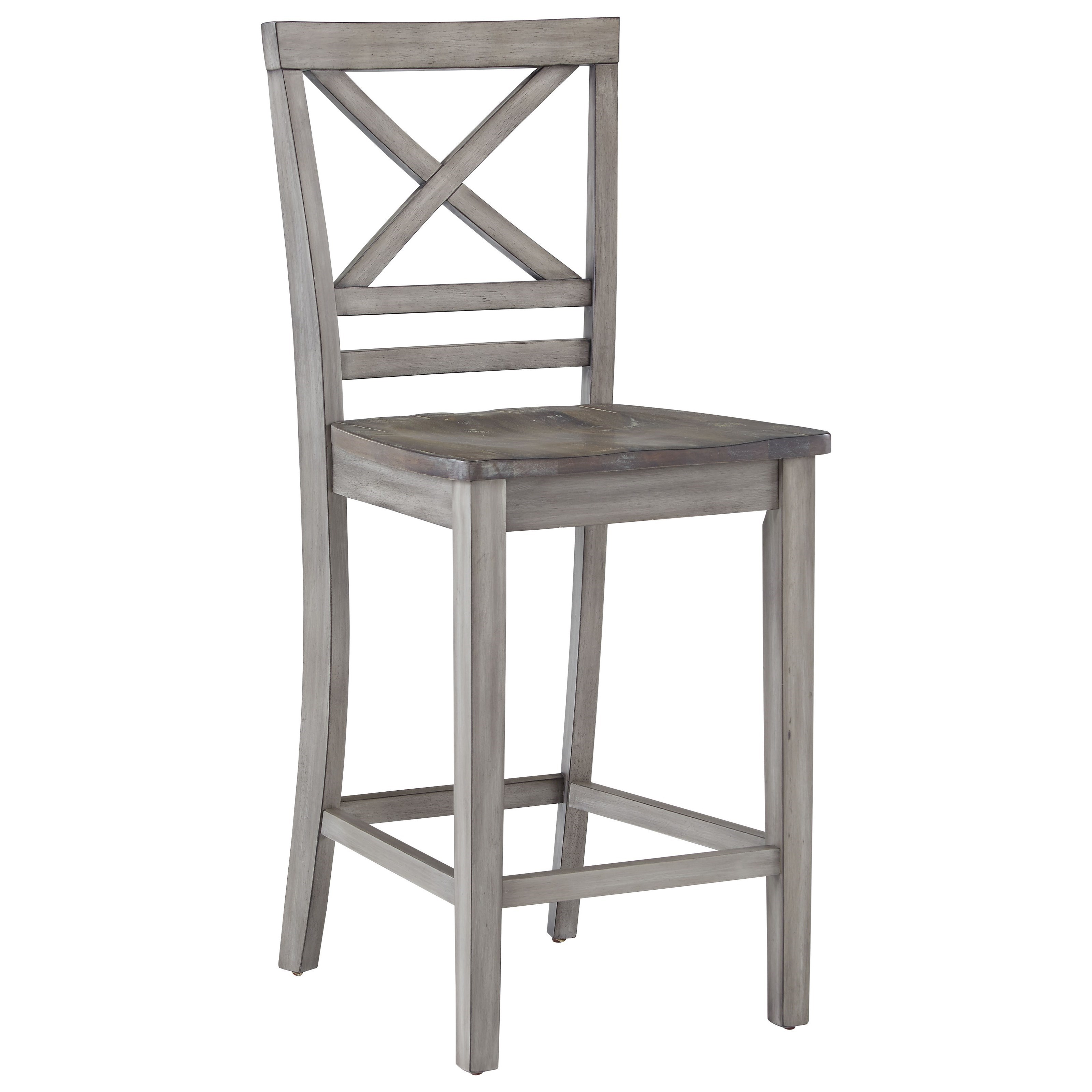 Standard Furniture Fairhaven 12874 Rustic Counter Height Barstool Great American Home Store