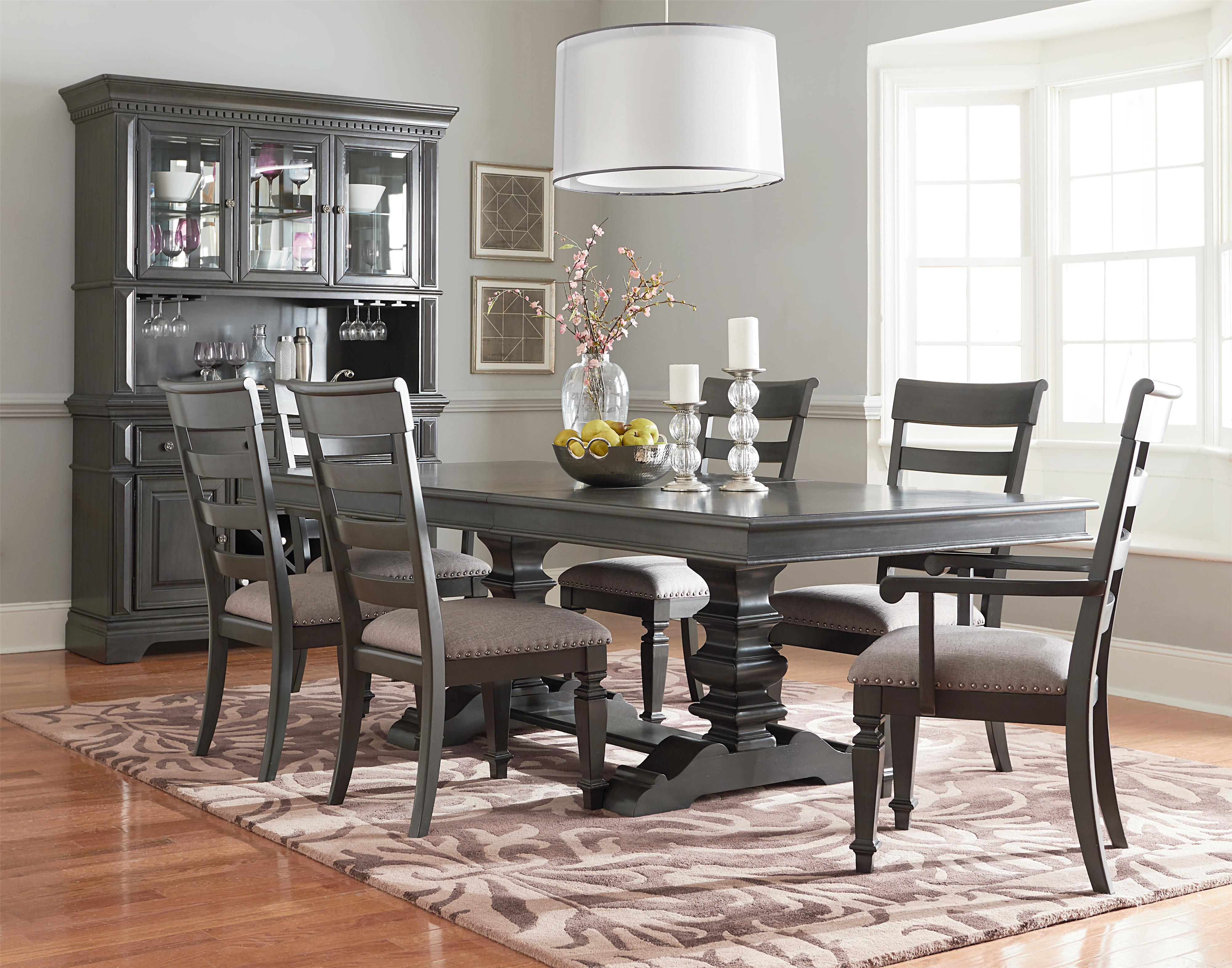 Standard Furniture Garrison Dining Room Group with Trestle