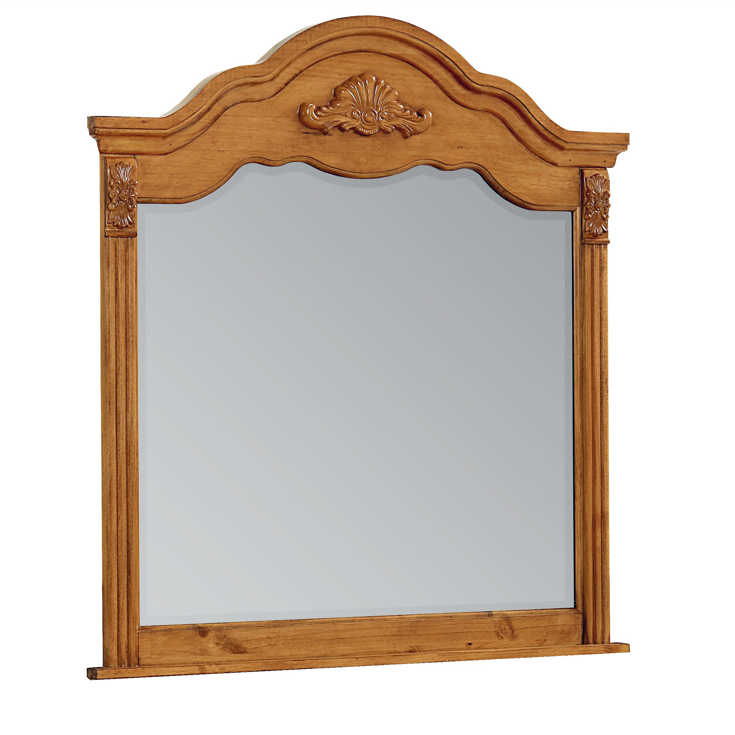 Standard furniture georgetown traditional mirror wayside for Traditional mirror