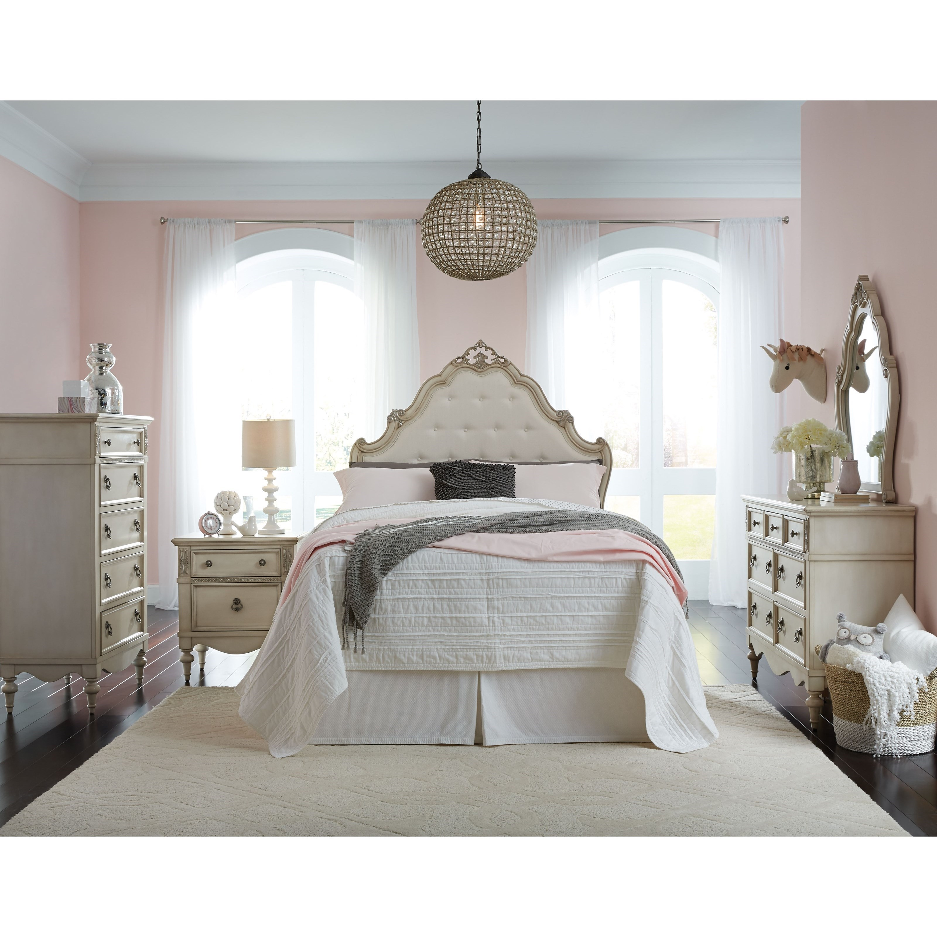 Standard furniture giselle full bedroom group dunk for Bedroom furniture groups