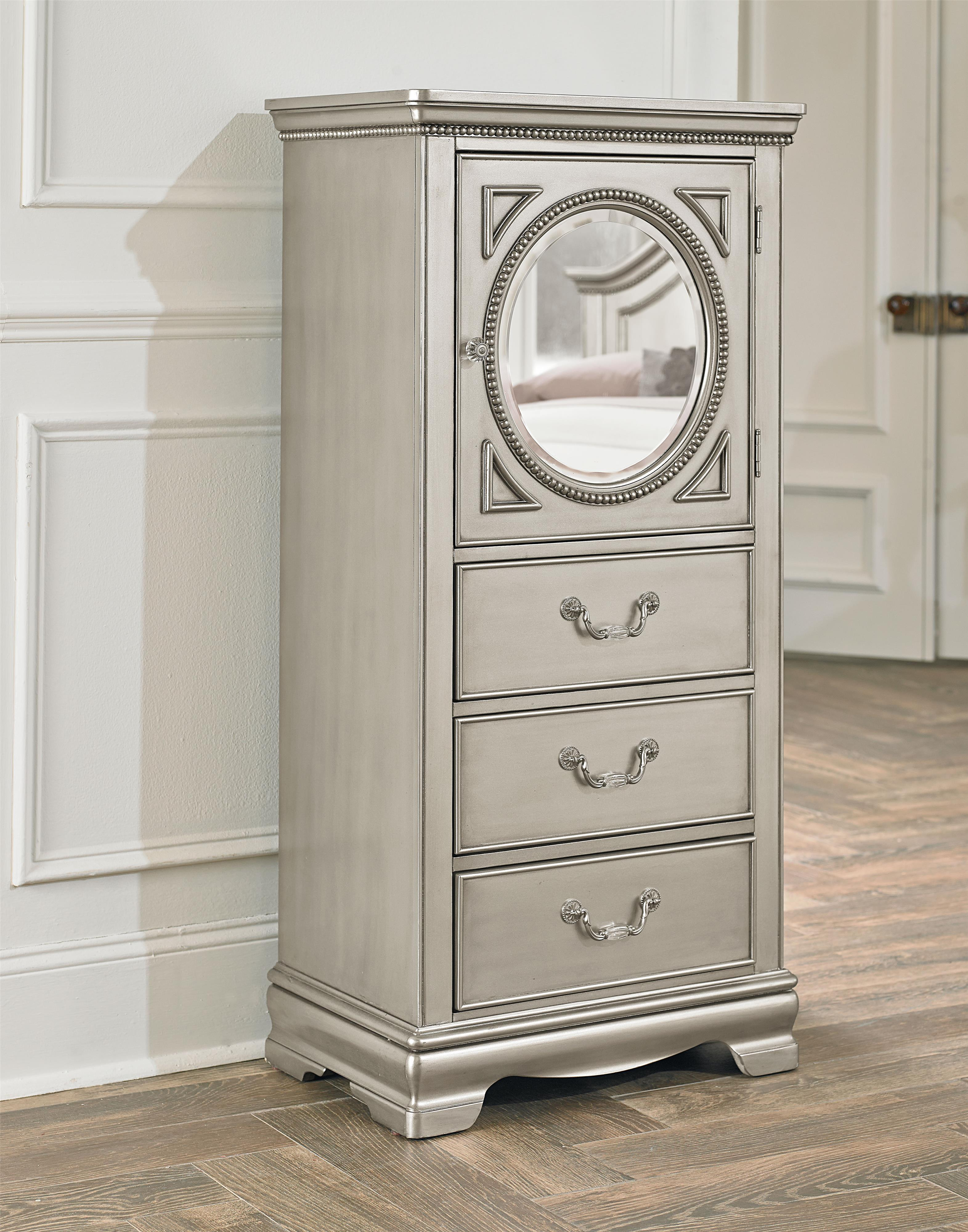 Standard furniture jessica silver looking glass lingerie for Bedroom furniture 37027