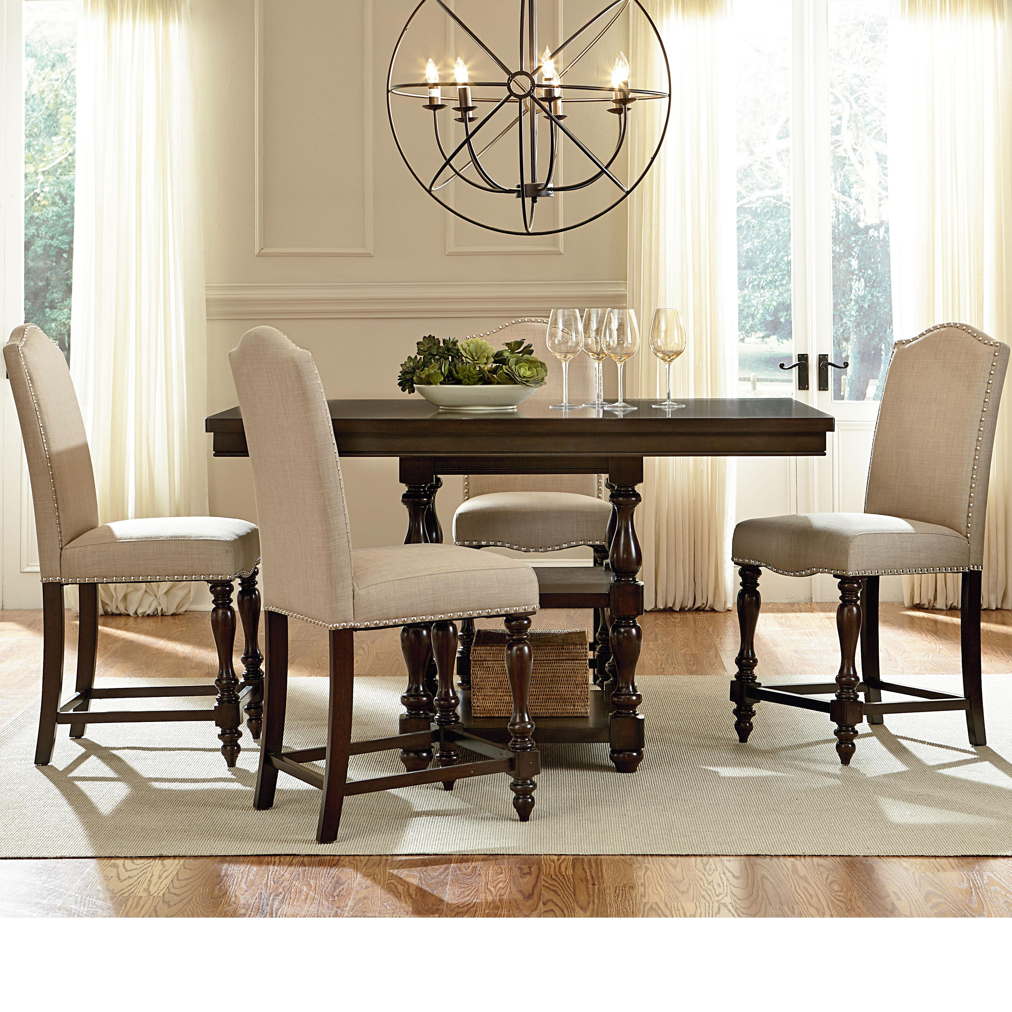 Standard furniture mcgregor counter height table with 2 for Dining room table size calculator