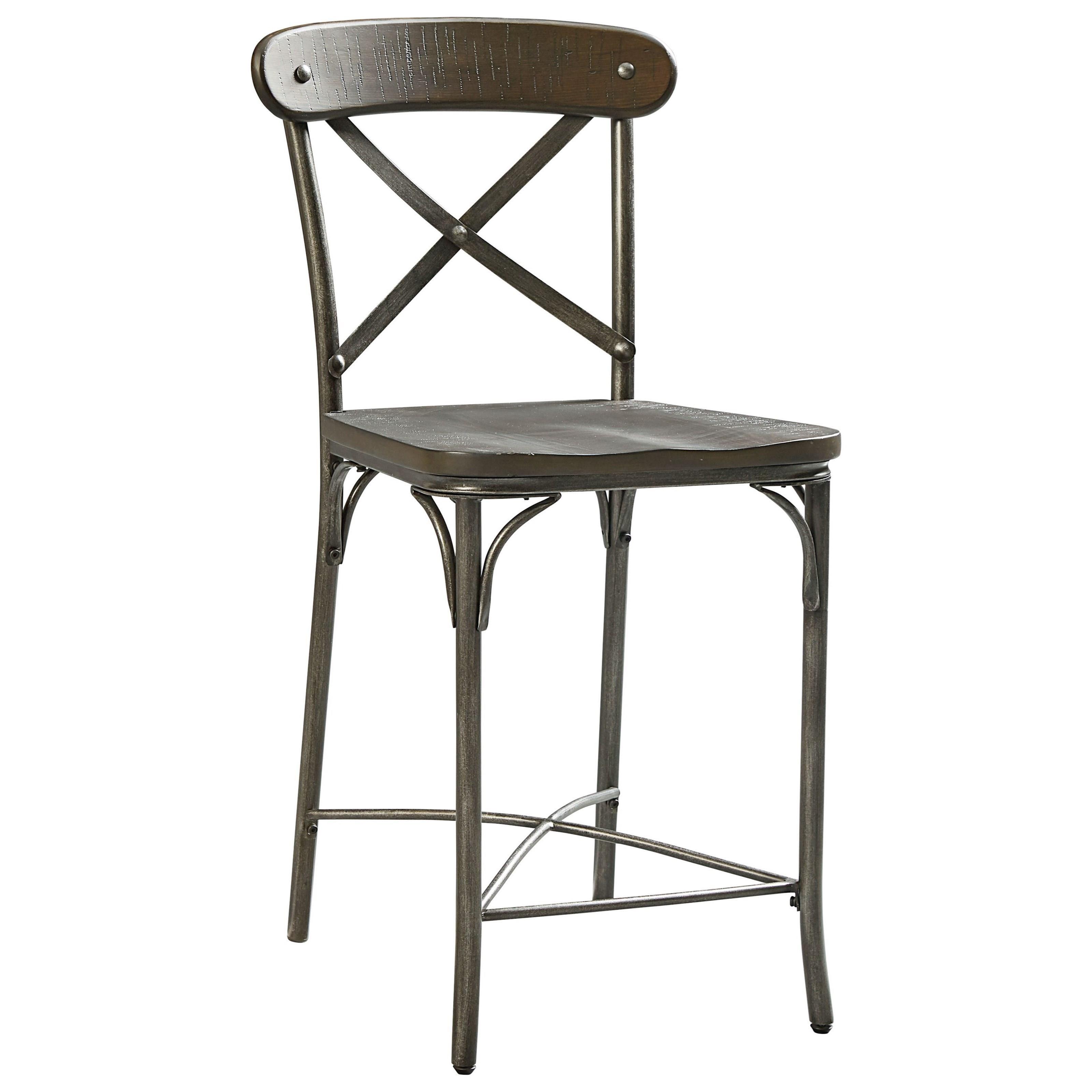 Standard furniture montvale industrial metal back stool
