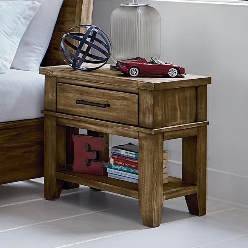 standard furniture nelson 90257 nightstand with felt lined top drawer great american home. Black Bedroom Furniture Sets. Home Design Ideas