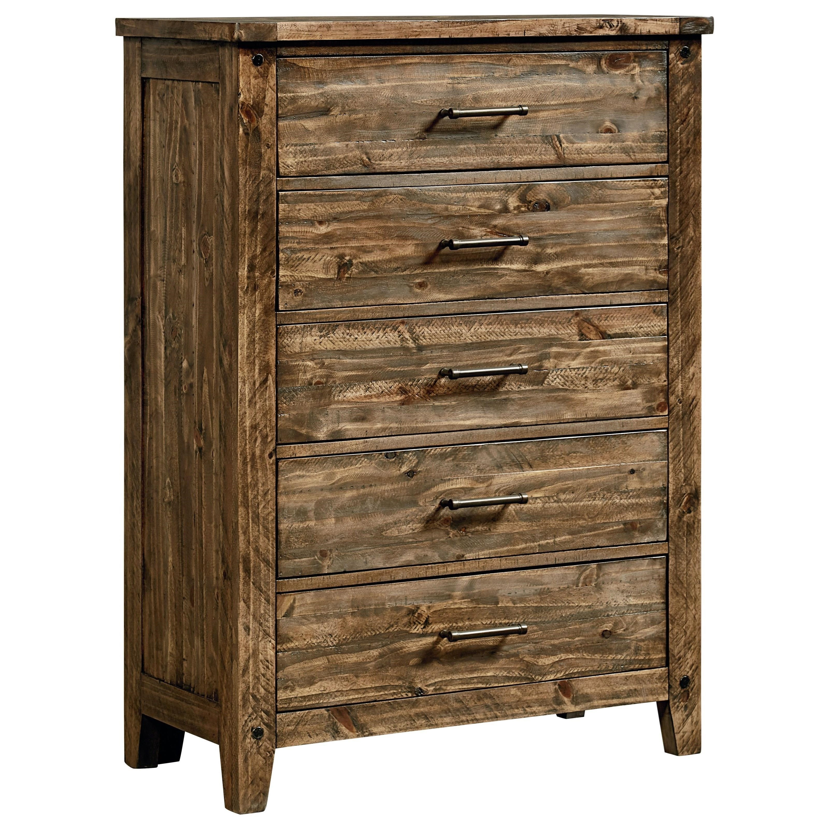 Standard Furniture Nelson 92505 Rustic Five Drawer Chest