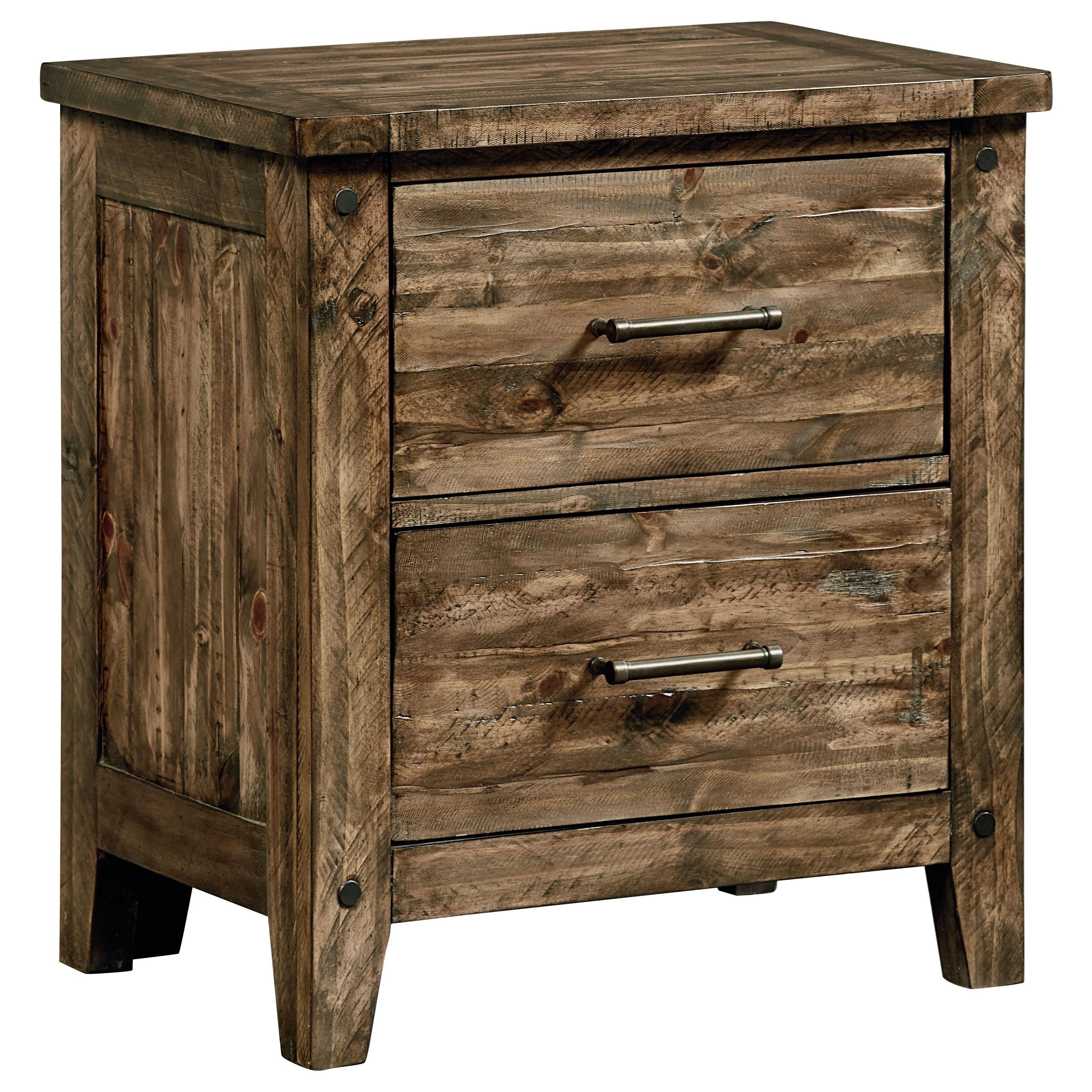 Standard Furniture Nelson 92507 Rustic Nightstand Great American Home Store Night Stands