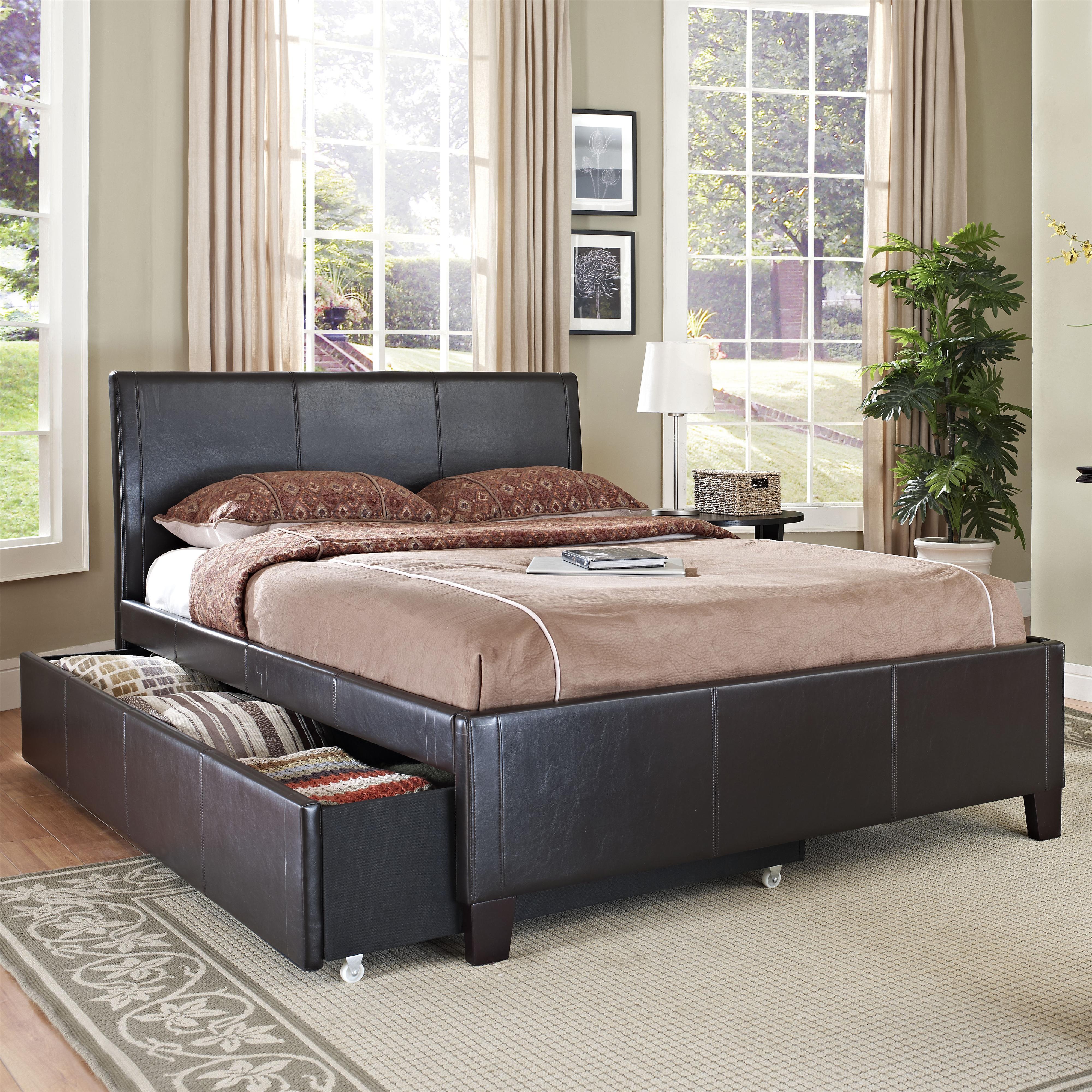 Standard Furniture New York Full Brown Trundle Bed Olinde 39 S Furniture Upholstered Bed