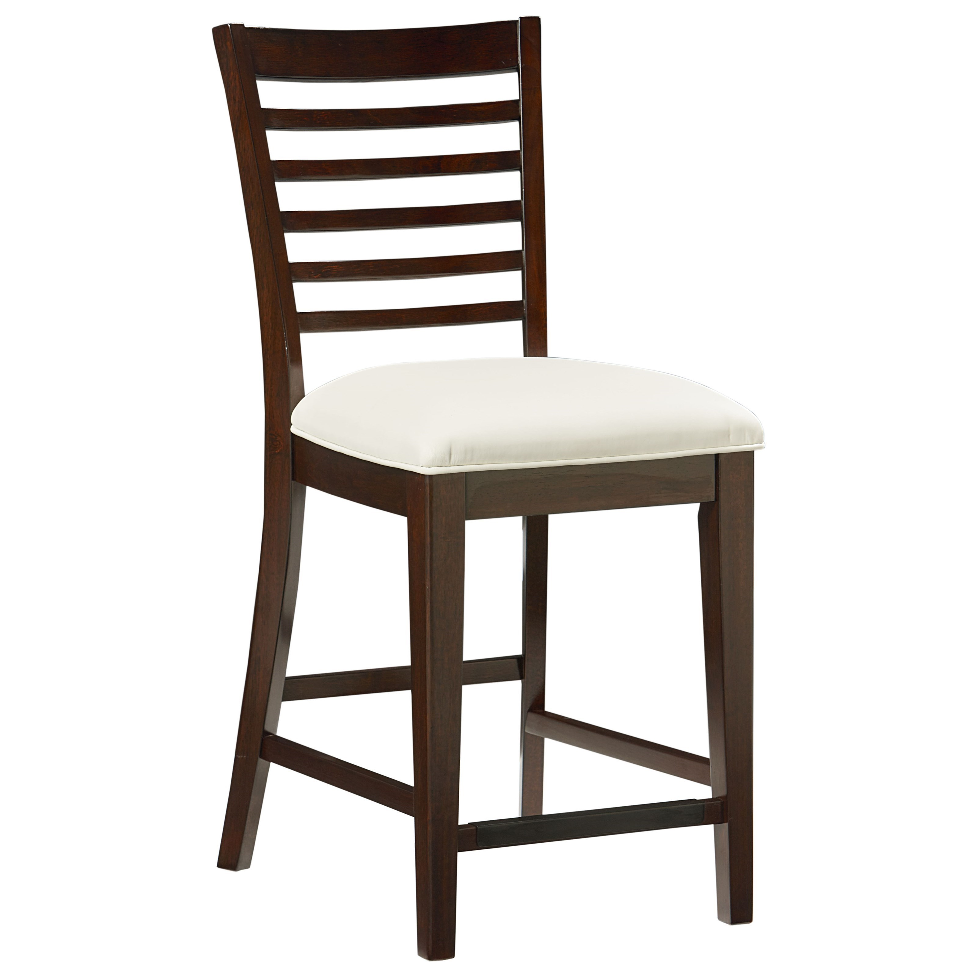 Standard furniture noveau counter height stool with ladder for Bar stool height