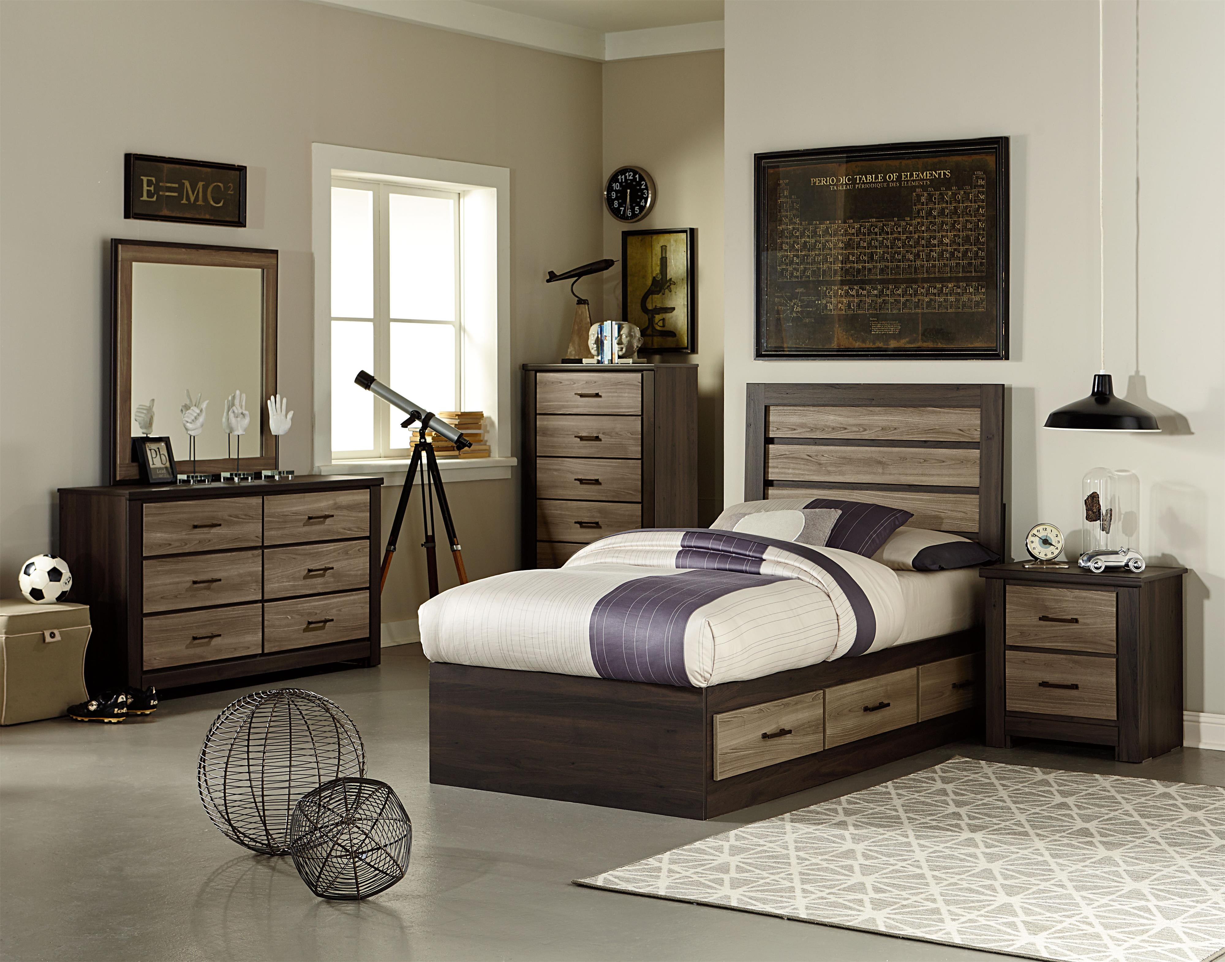 Standard Furniture Oakland Twin Bedroom Group With Captain 39 S Bed Olinde 39 S Furniture Bedroom