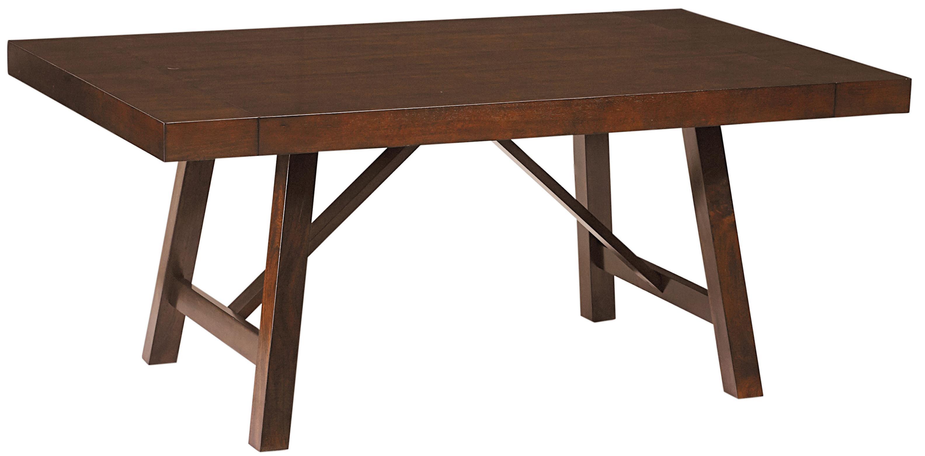 Standard furniture omaha brown 16181 trestle dining room for Table standard