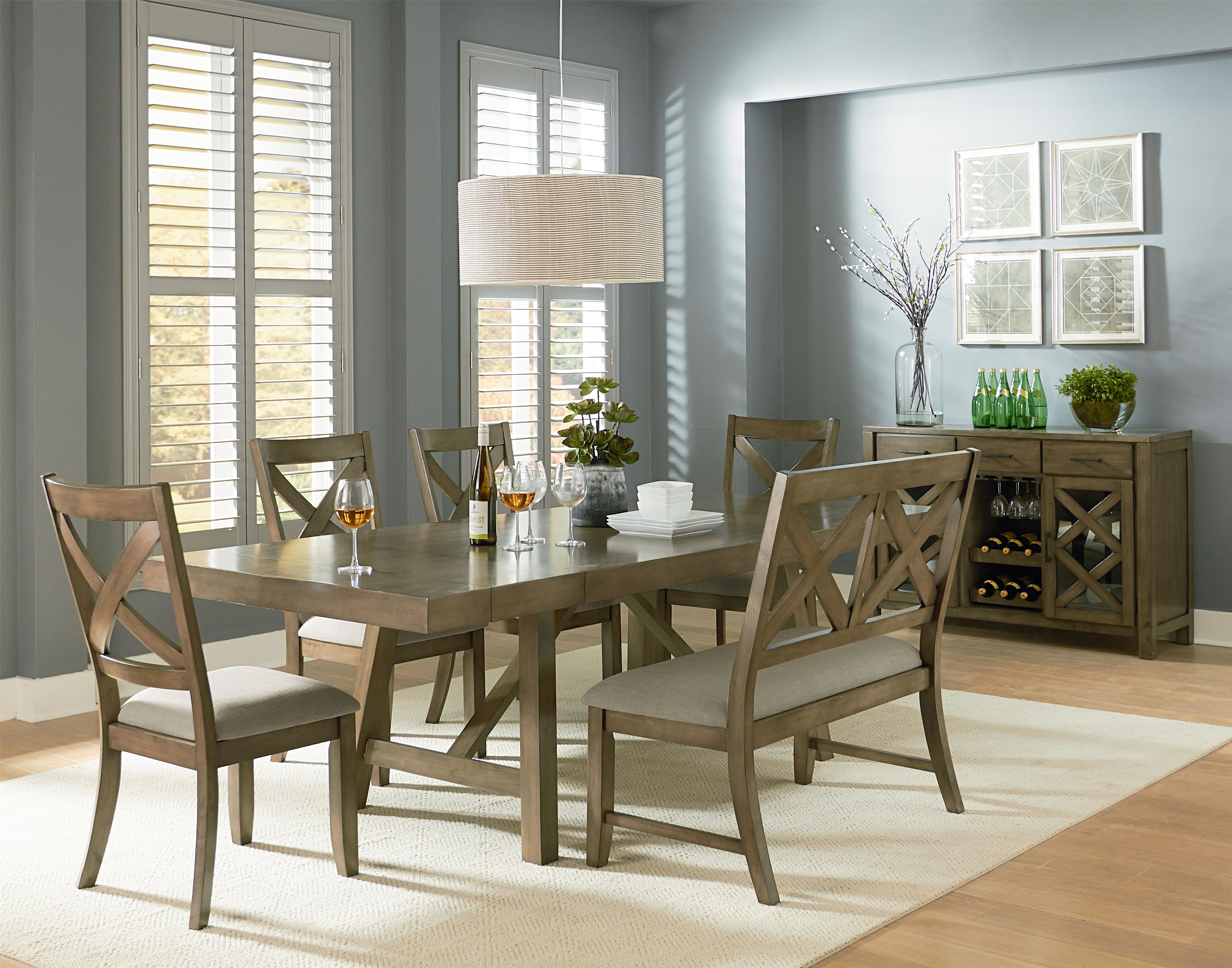 standard furniture omaha grey casual dining room group wayside furniture casual dining room. Black Bedroom Furniture Sets. Home Design Ideas