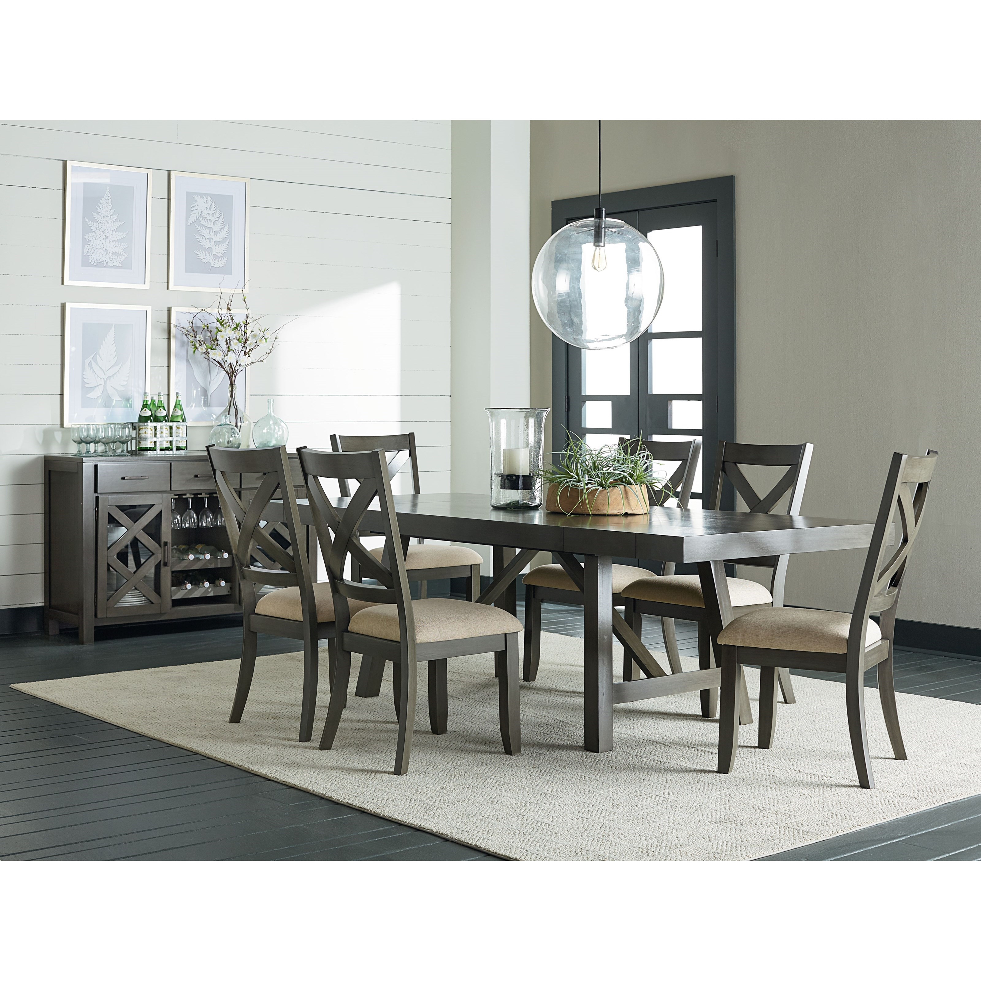 Standard furniture omaha grey casual dining room group for Informal dining