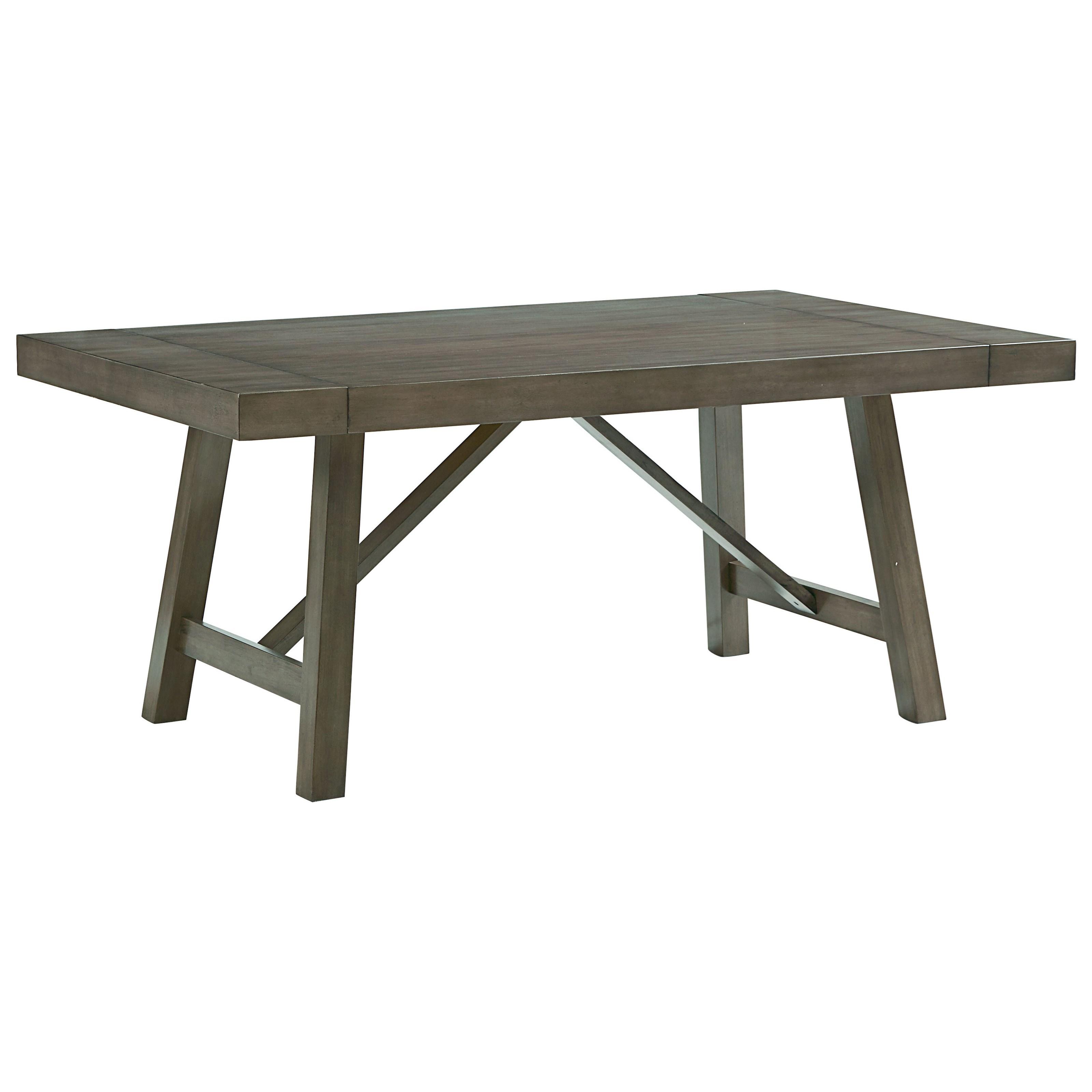Standard furniture omaha grey trestle dining room table for Dining room tables trestle