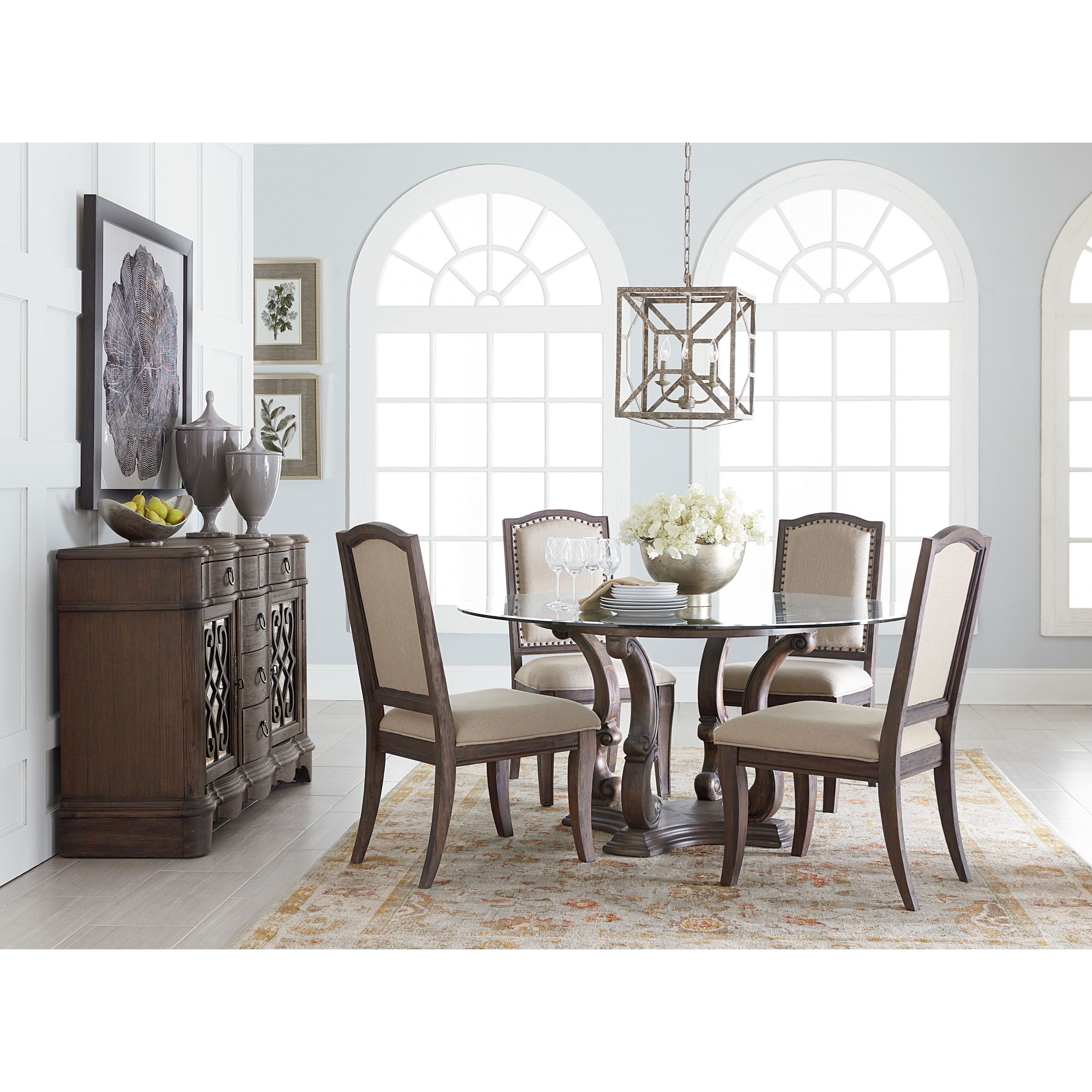 Standard furniture parliament round table dining room for Casual dining room ideas round table