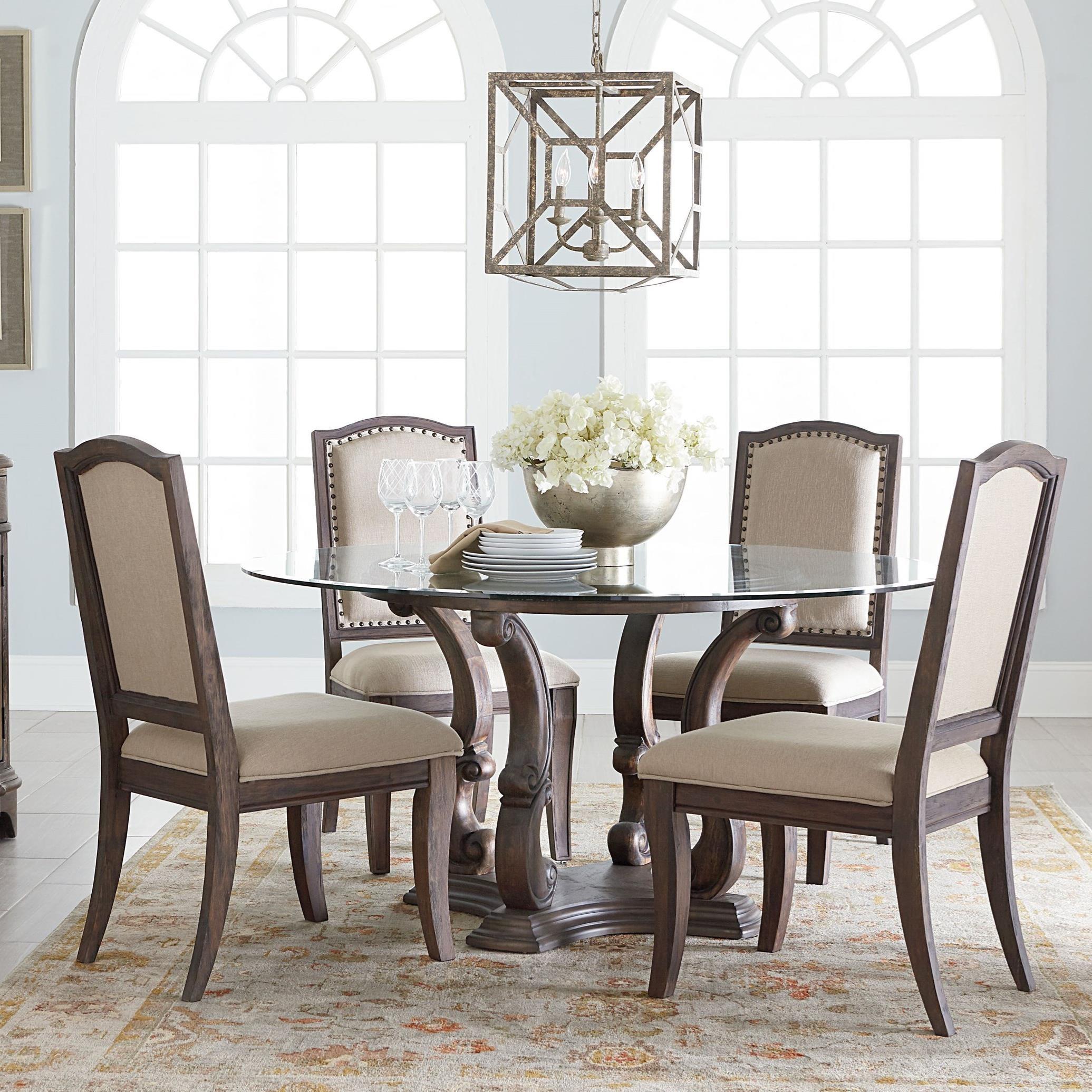 standard furniture parliament round table and chair set olinde 39 s furniture dining 5 piece sets. Black Bedroom Furniture Sets. Home Design Ideas