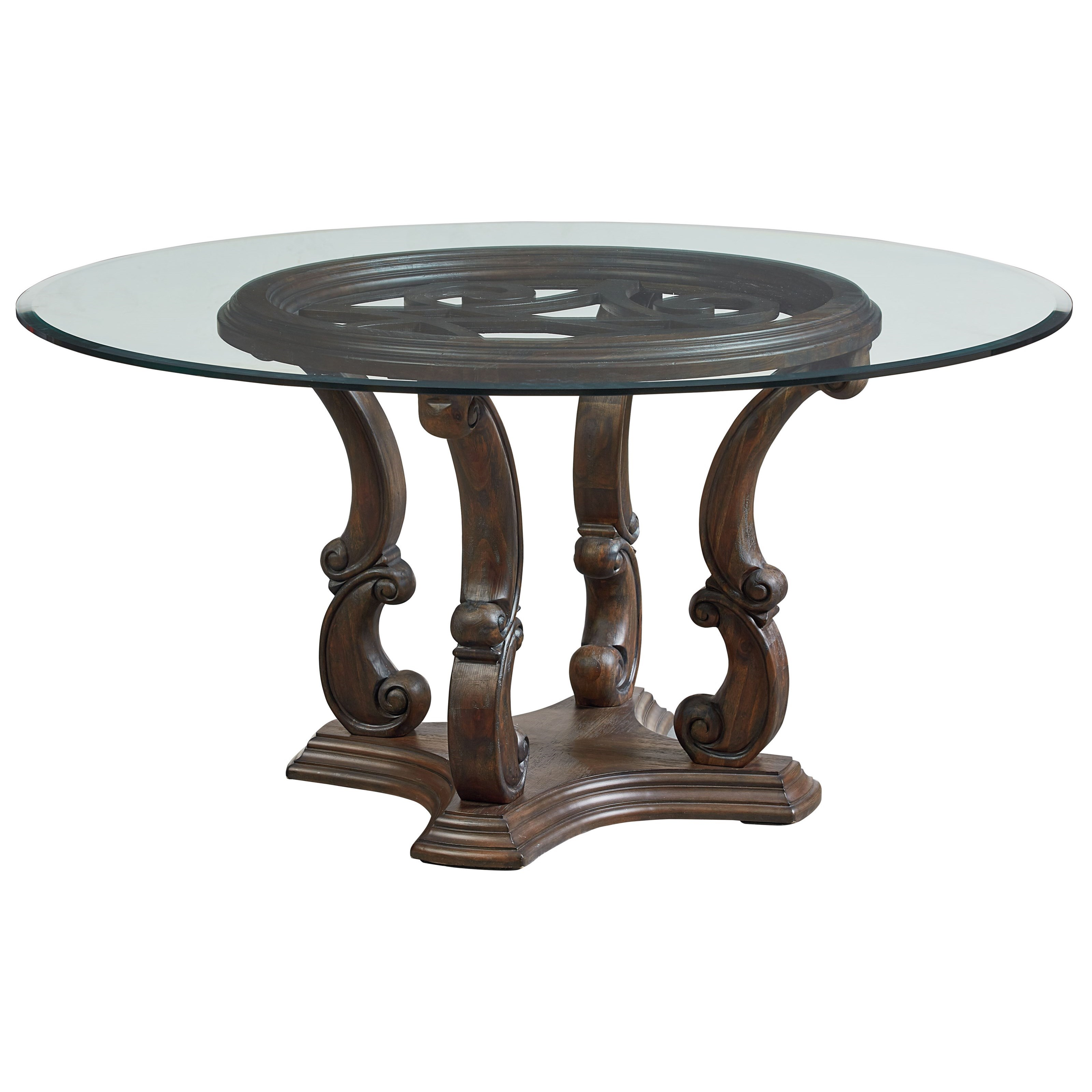 Standard furniture parliament 60 inch round dining room for Standard dining table