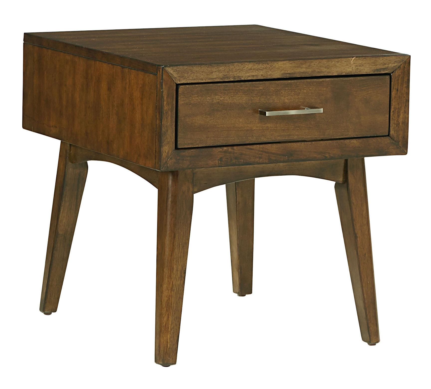 Standard Furniture Roxbury Mid Century Modern 1 Drawer End