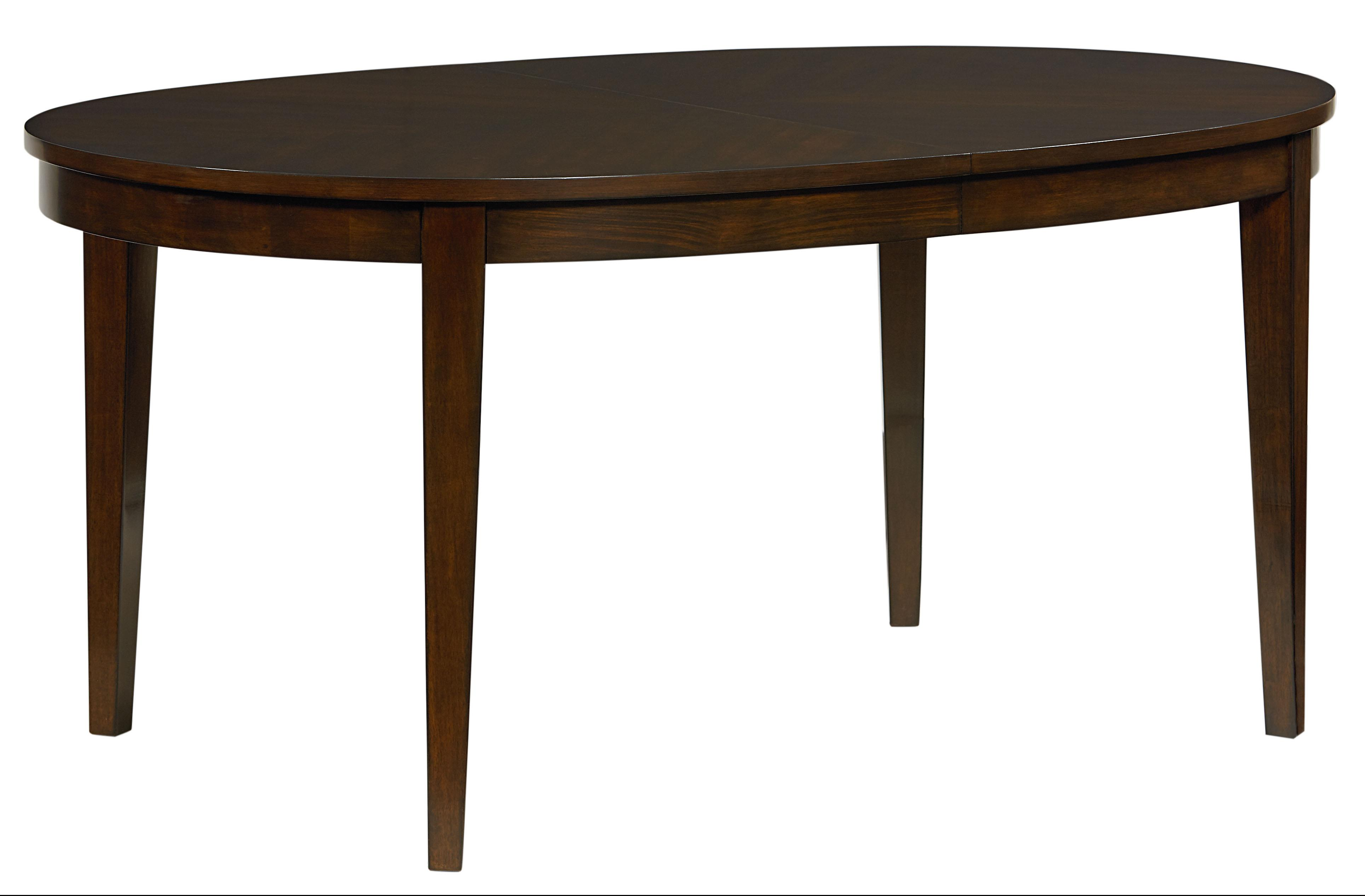 Standard furniture serenity oval dining table with 18 for Kitchen table with leaf