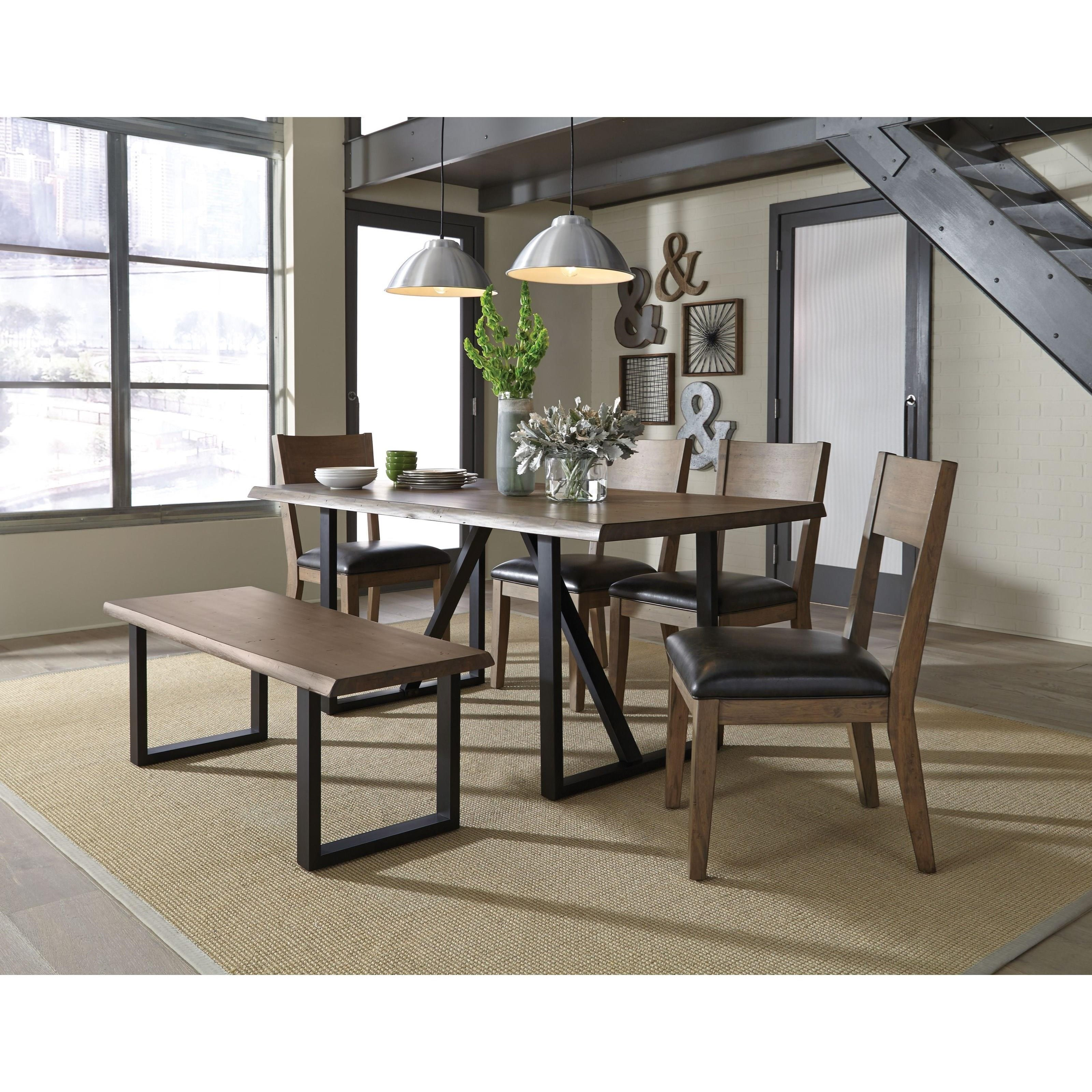 Standard furniture sierra rustic rectangular table with for Standard dining table