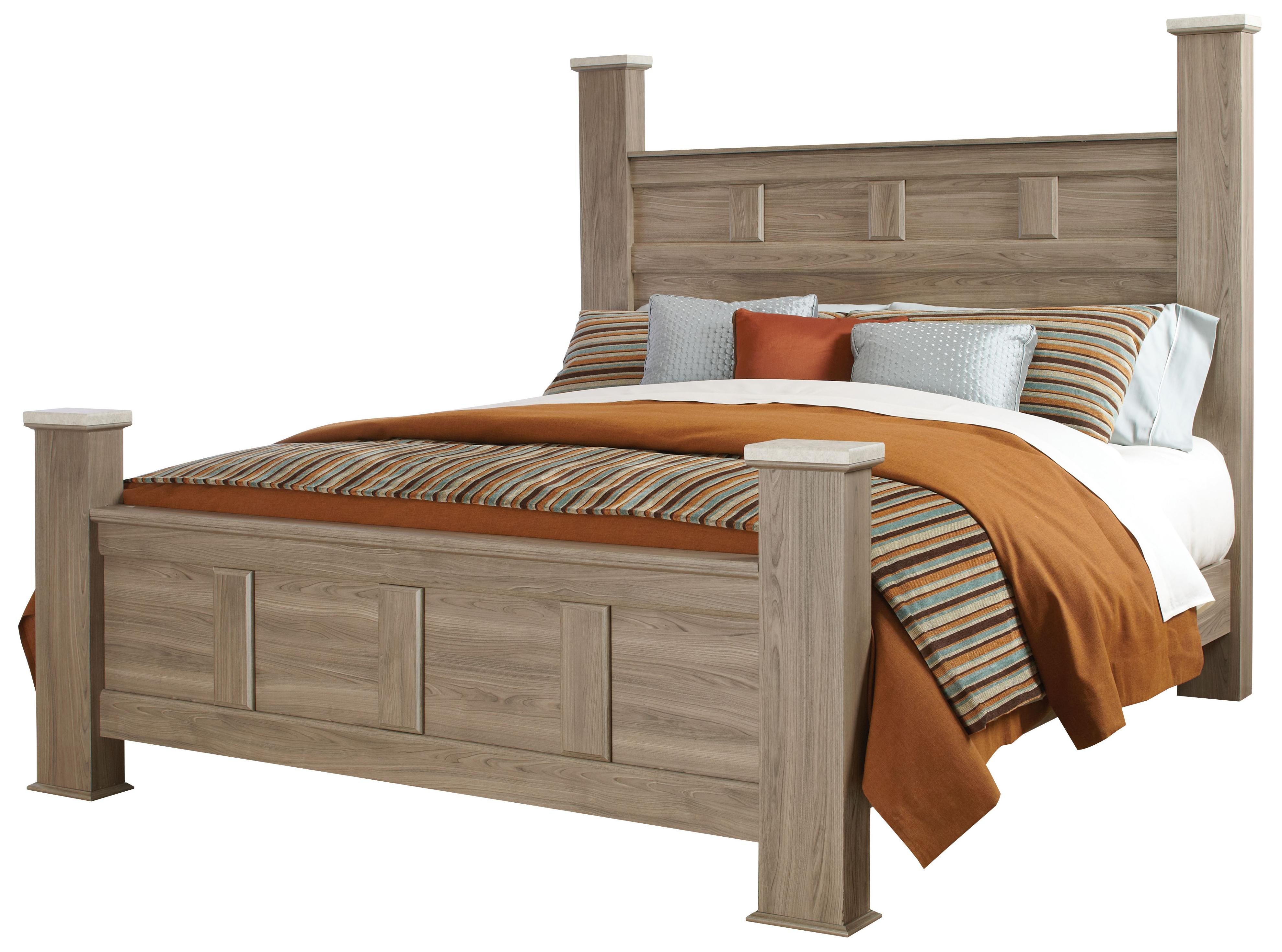 Standard furniture stonehill casual king poster bed for Wayside furniture