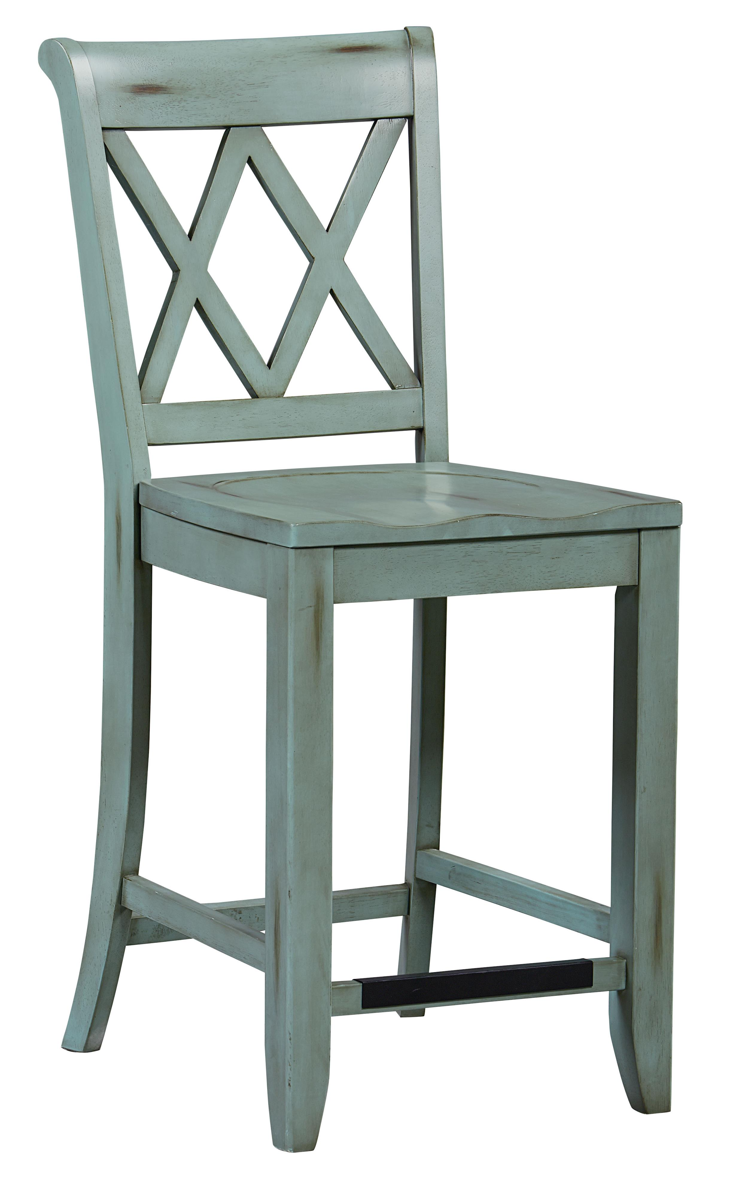 Standard furniture vintage vanilla counter height stool for Bar stool height