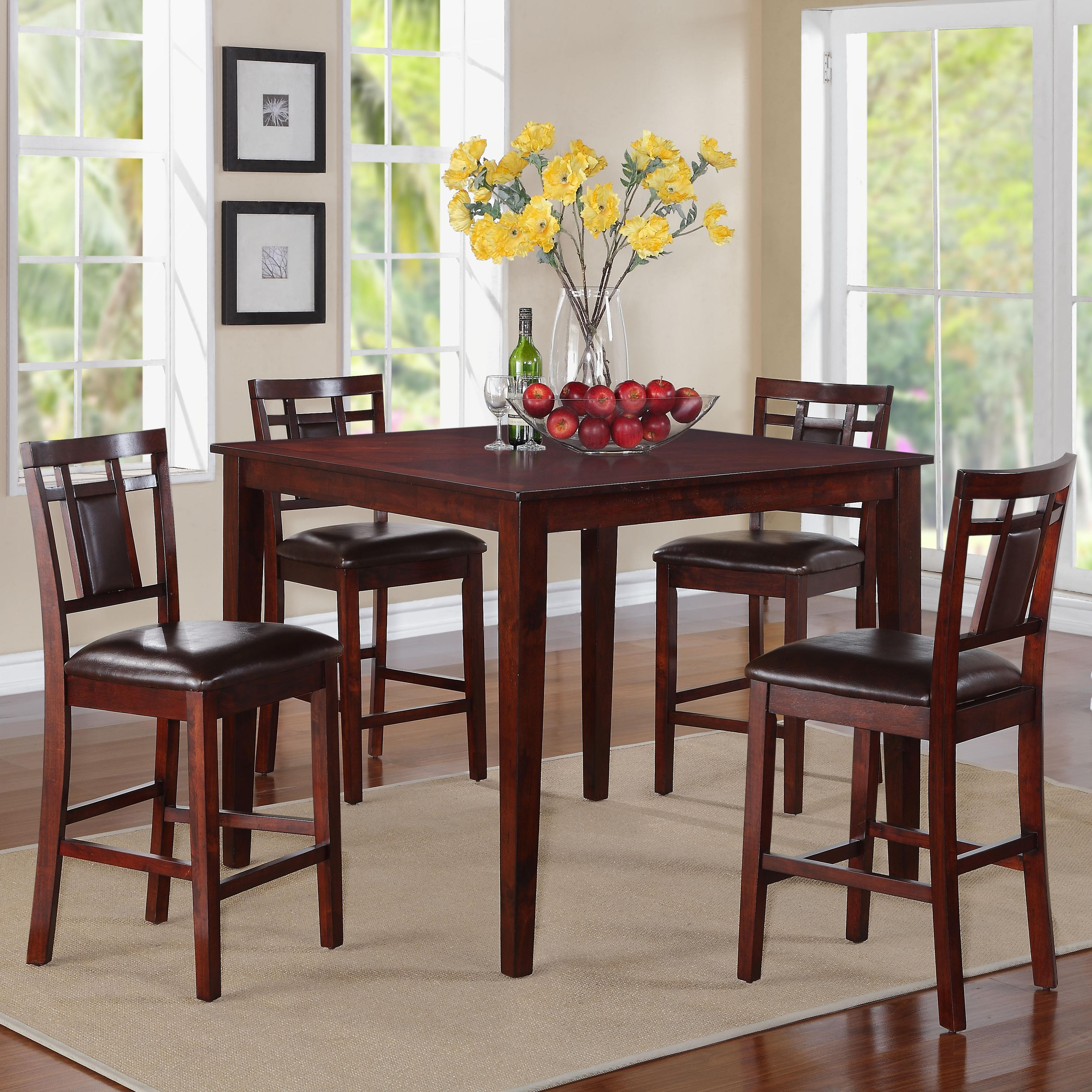Standard furniture westlake 17292 5 piece counter height table with stools set great american Grand home furniture outlet westlake
