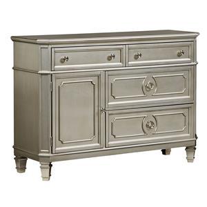 Standard furniture windsor silver king bedroom group for Bedroom furniture 70123