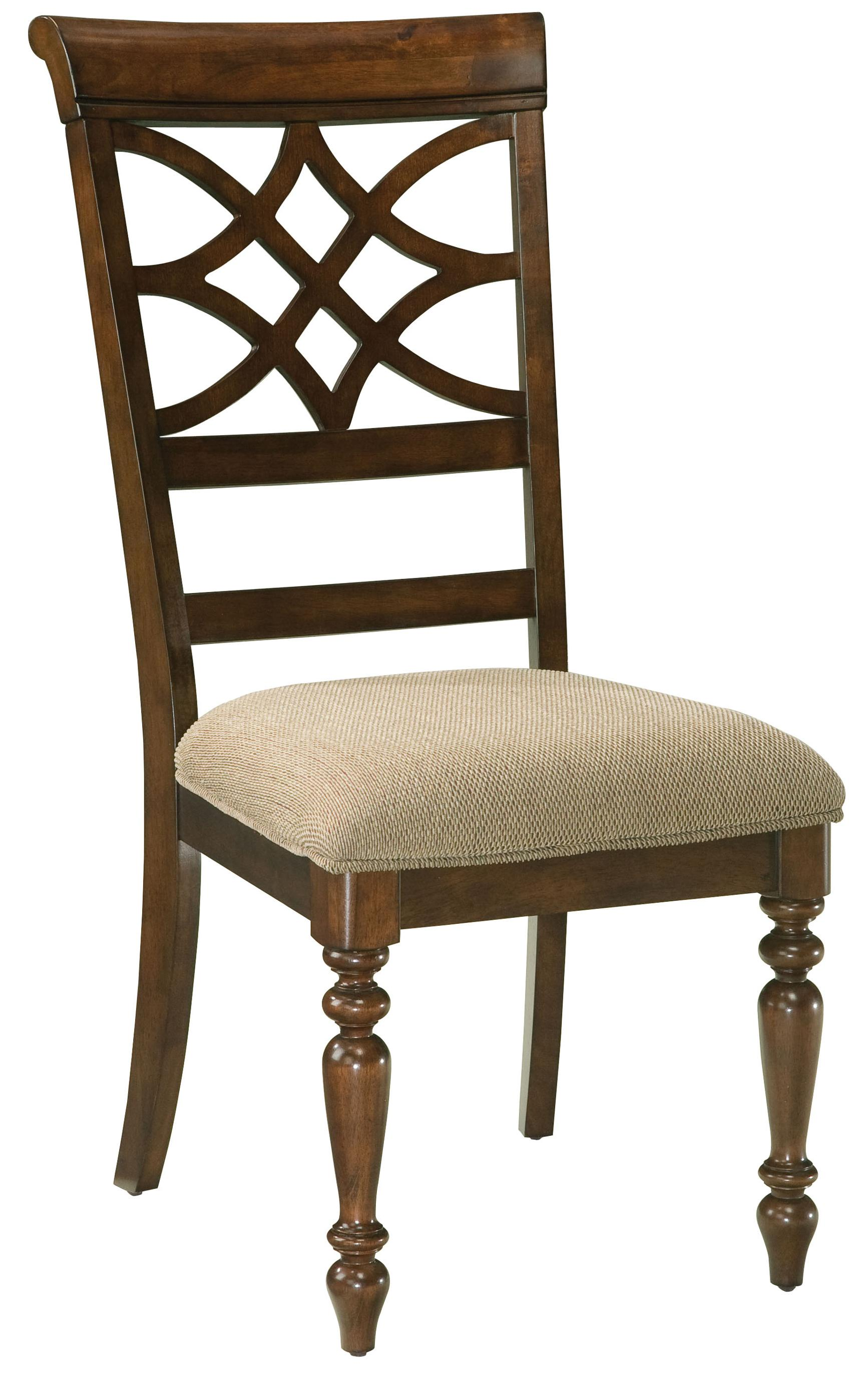 Standard furniture woodmont 19184 upholstered side chair for Upholstered dining chairs with black legs