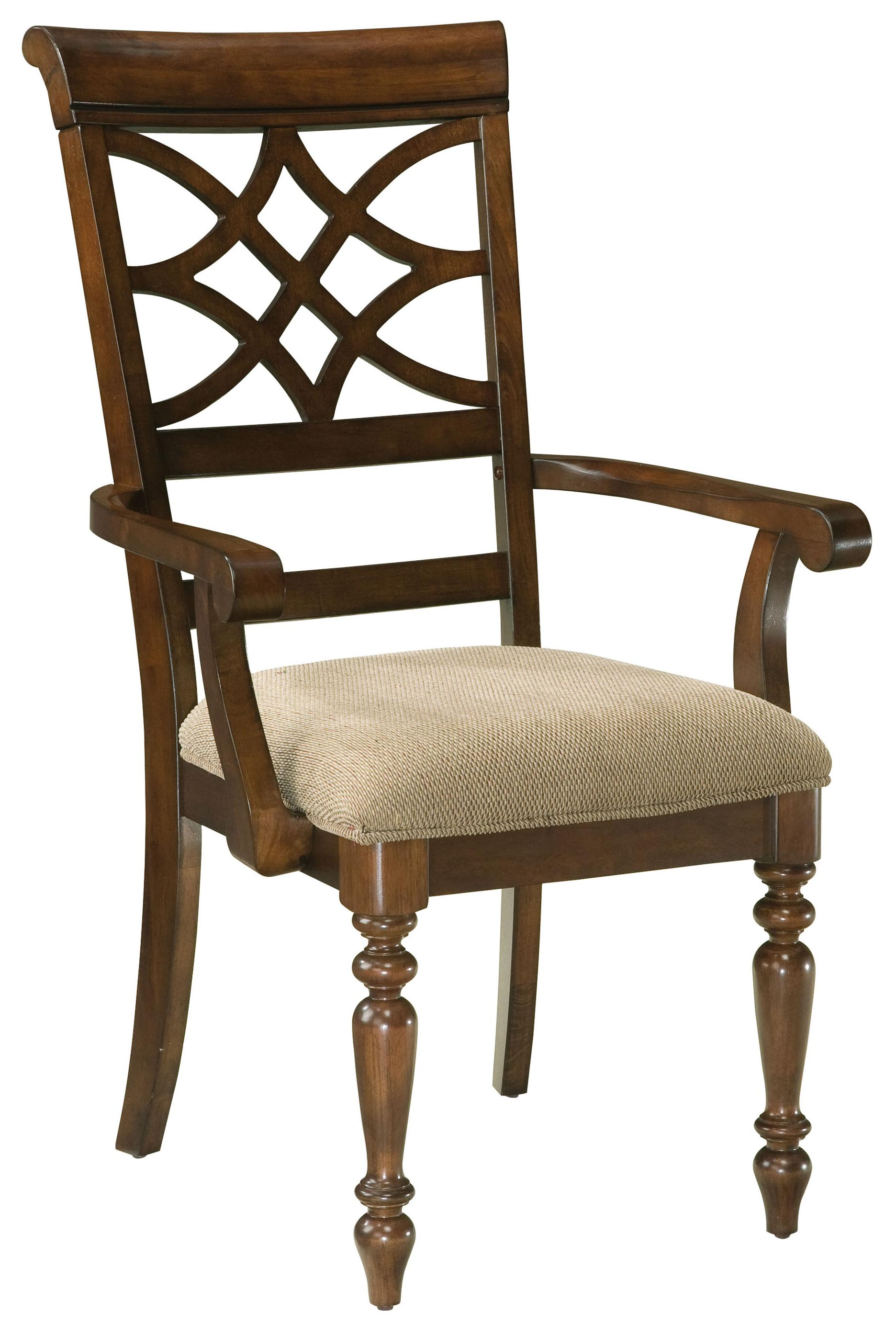 Standard furniture woodmont 19185 upholstered arm chair for Upholstered dining chairs with black legs