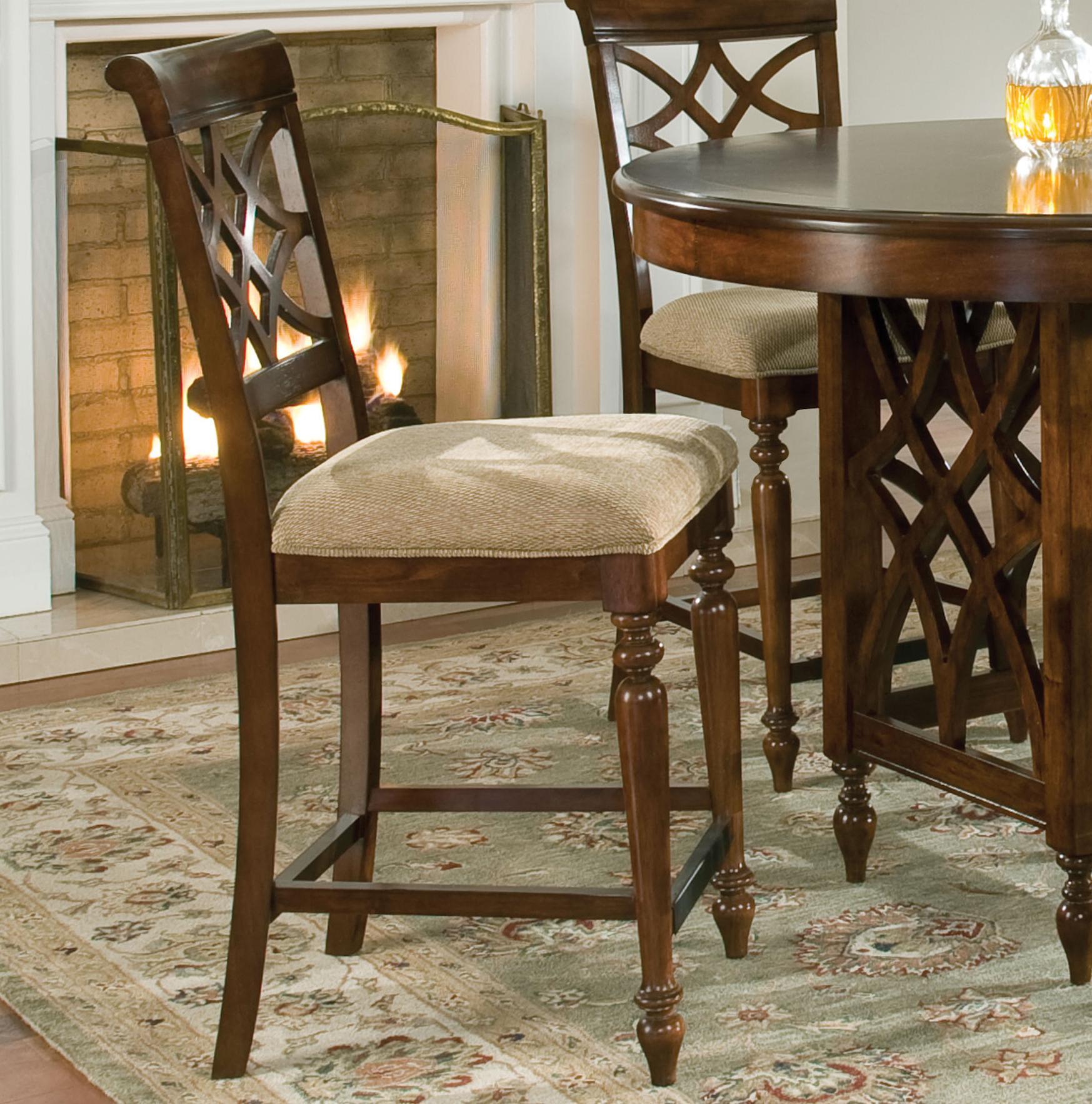 standard furniture woodmont 5 piece counter height table upholstered stools set miskelly. Black Bedroom Furniture Sets. Home Design Ideas