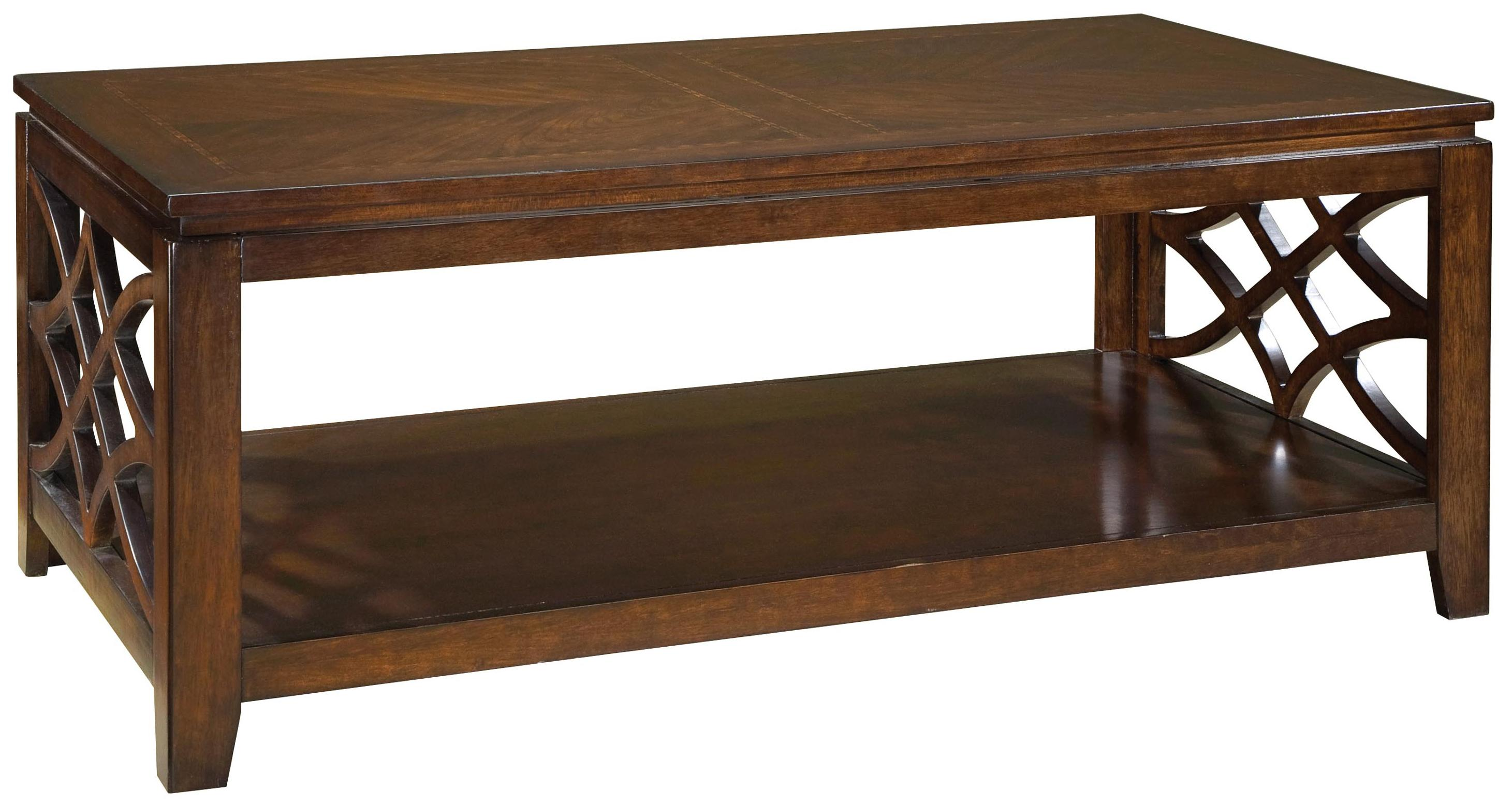 Zenith woodmont 23441 rectangular cocktail table with for Zenith sofa table