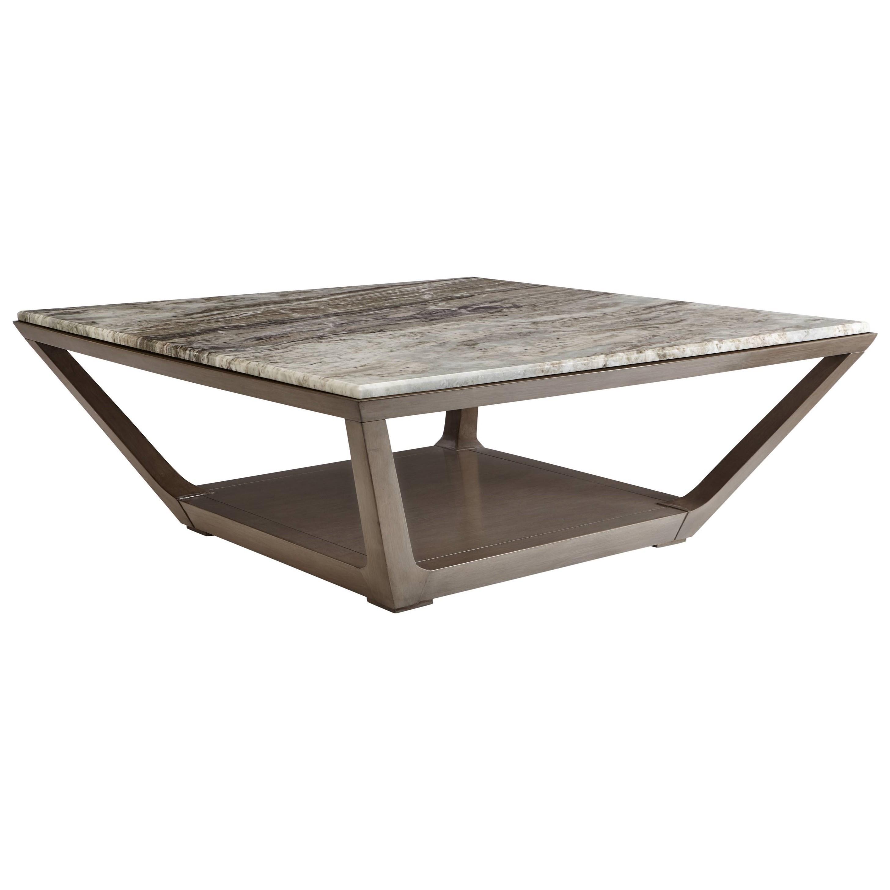 Stanley furniture coastal living oasis square poseidon for Coastal square coffee table