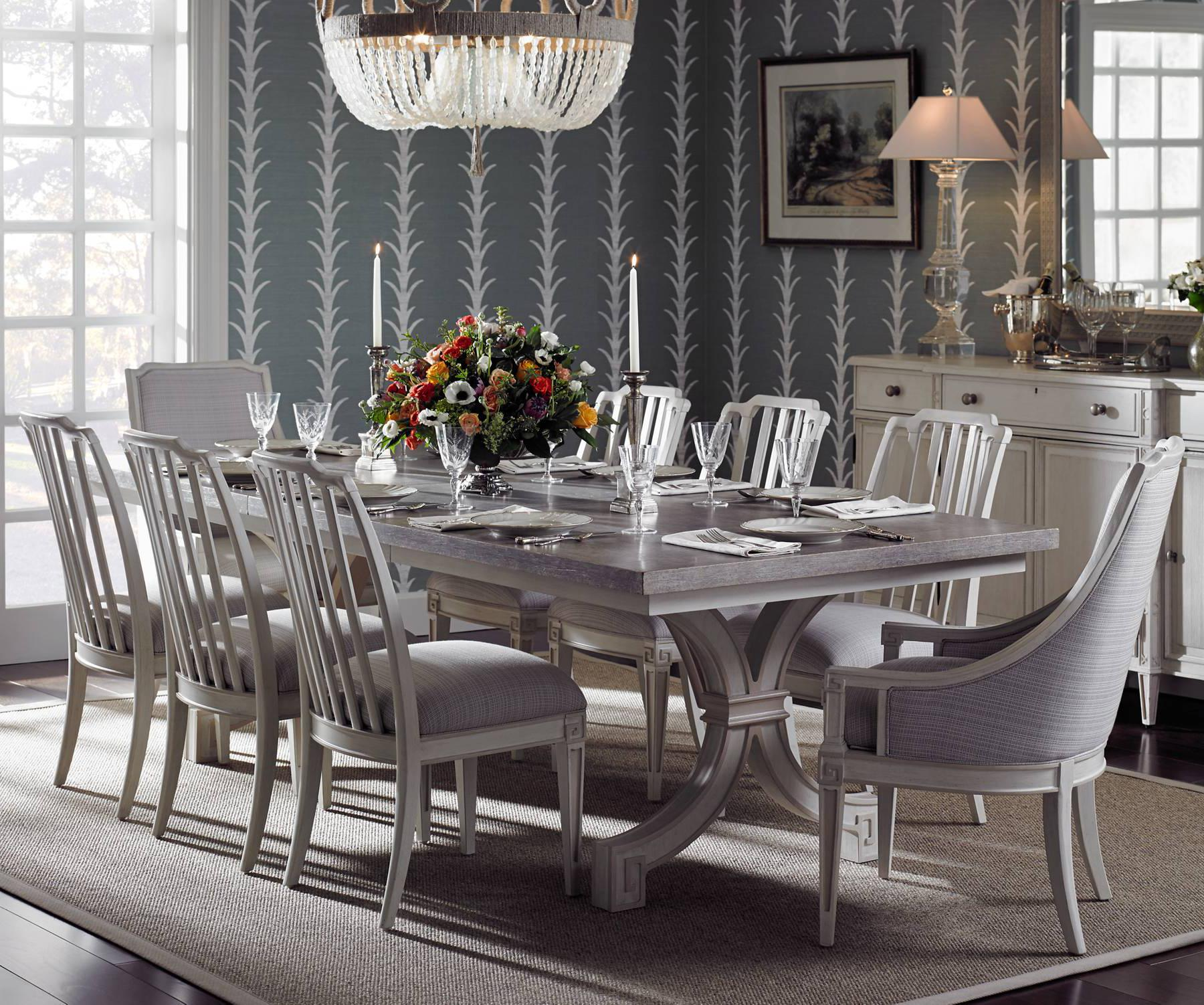 Stanley furniture preserve 9 piece st helena trestle for Stanley furniture dining room sets