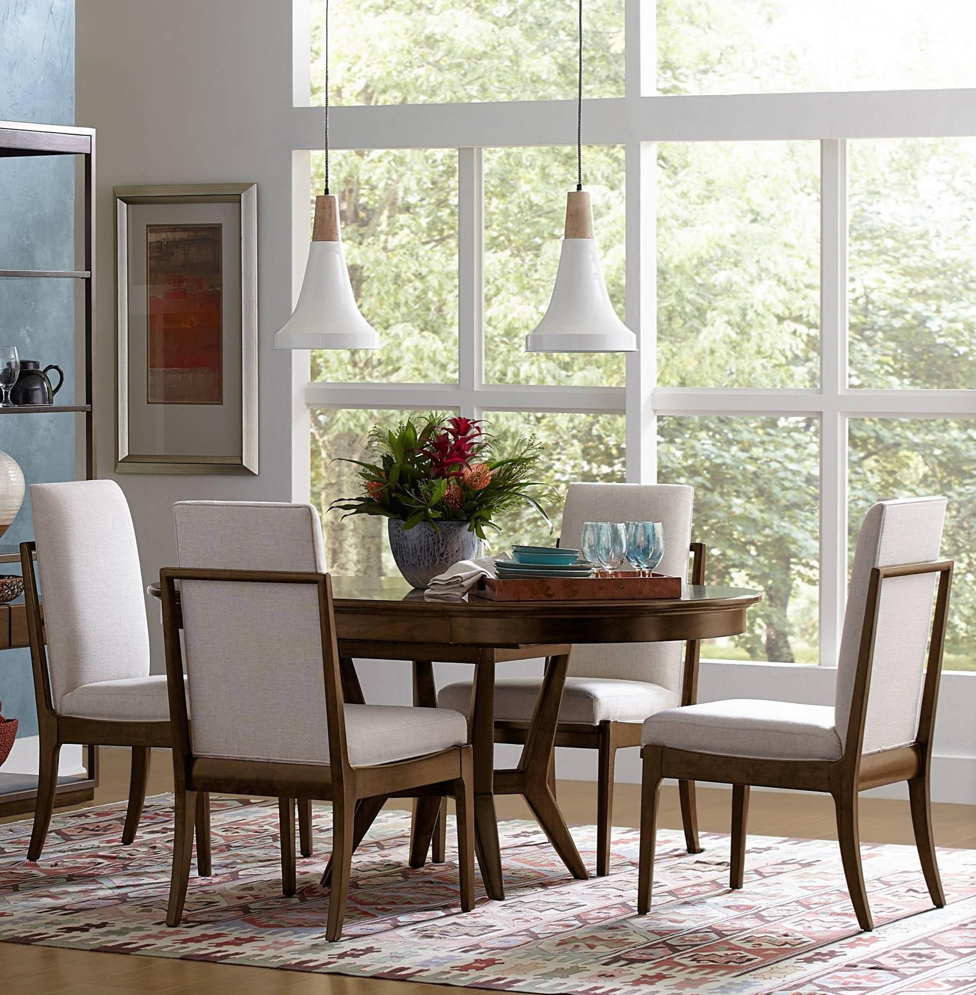 Stanley furniture santa clara 5 piece round table set for Stanley furniture dining room sets