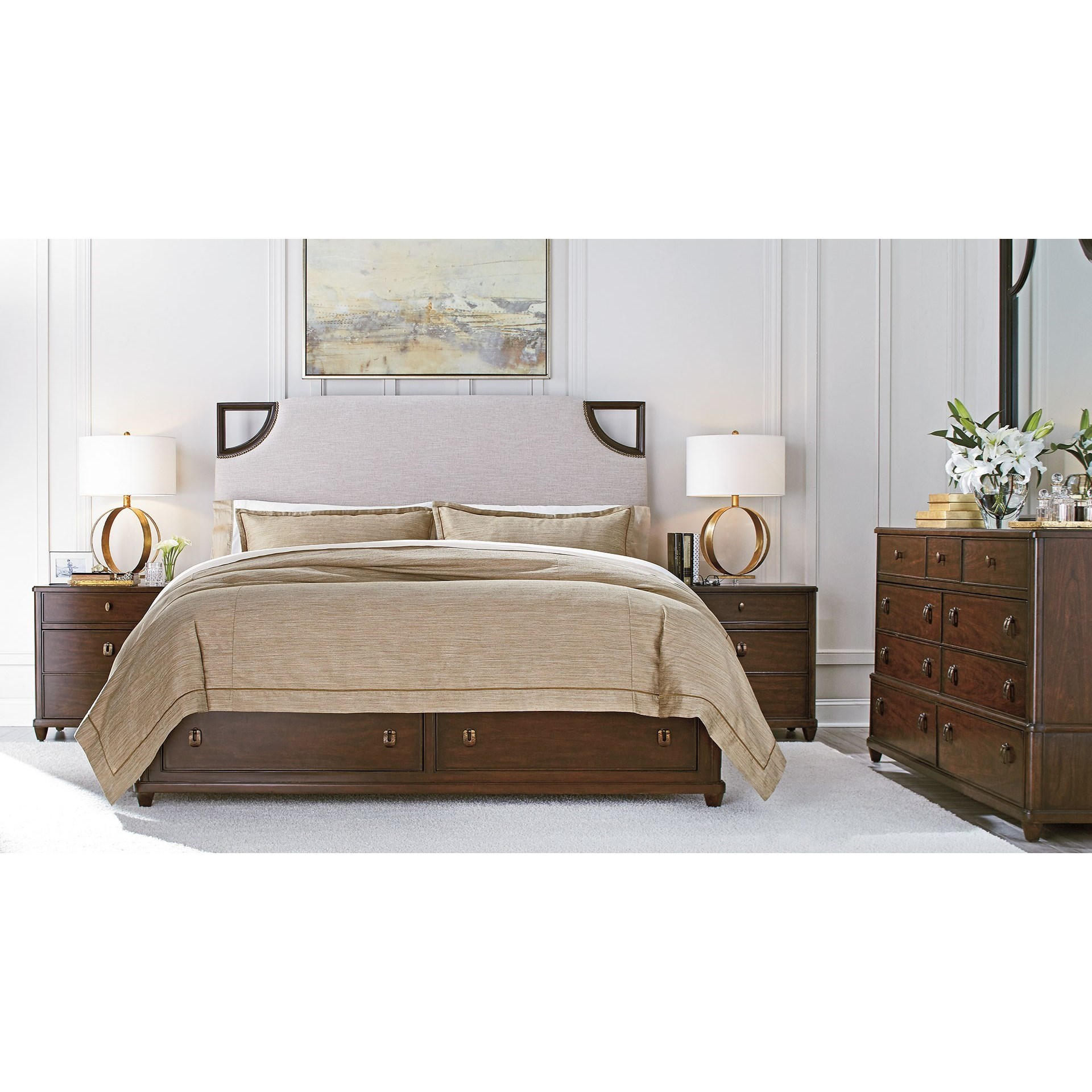 Stanley furniture virage queen bedroom group dunk for Bedroom furniture groups