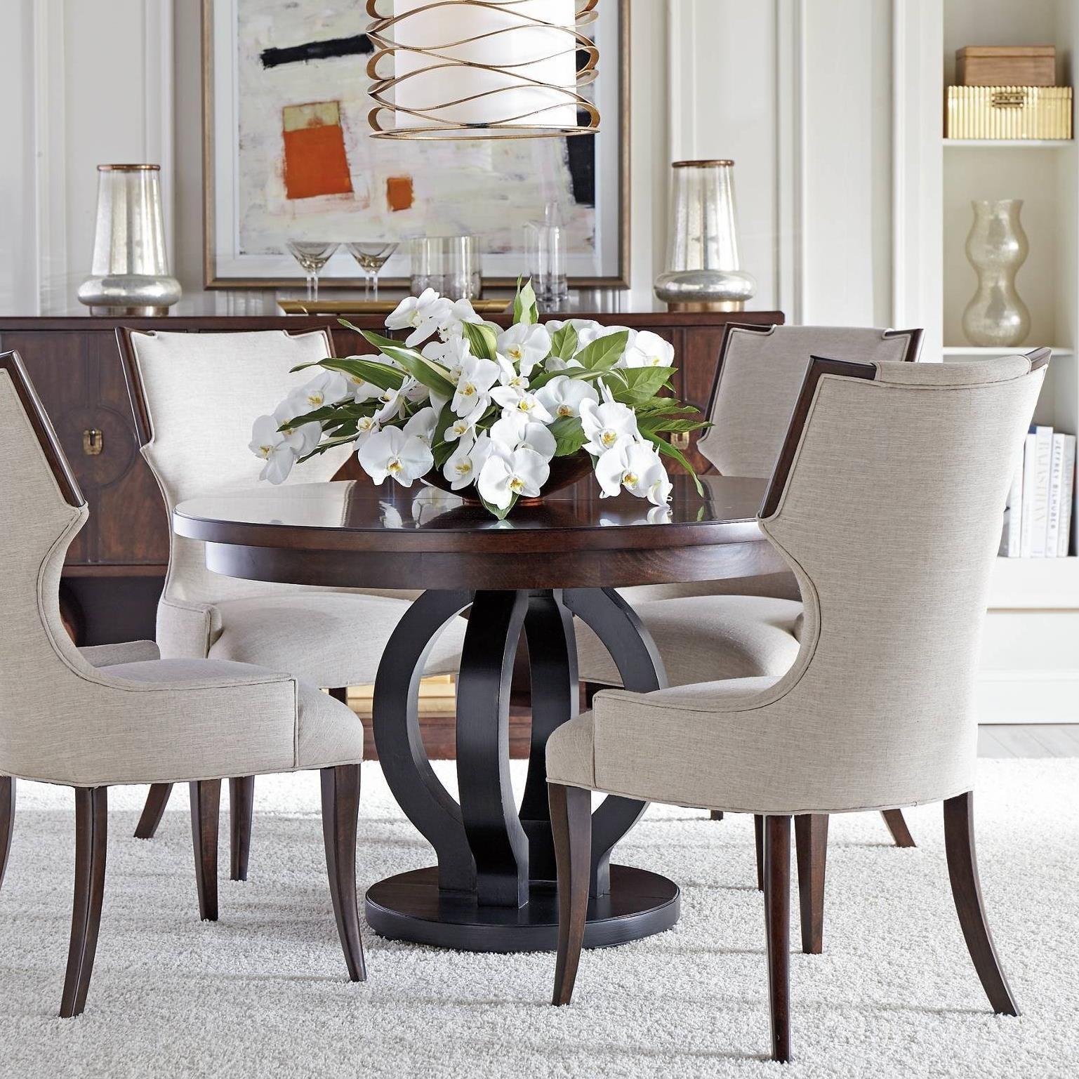 Stanley Furniture Virage 5 Piece Round Dining Table Set