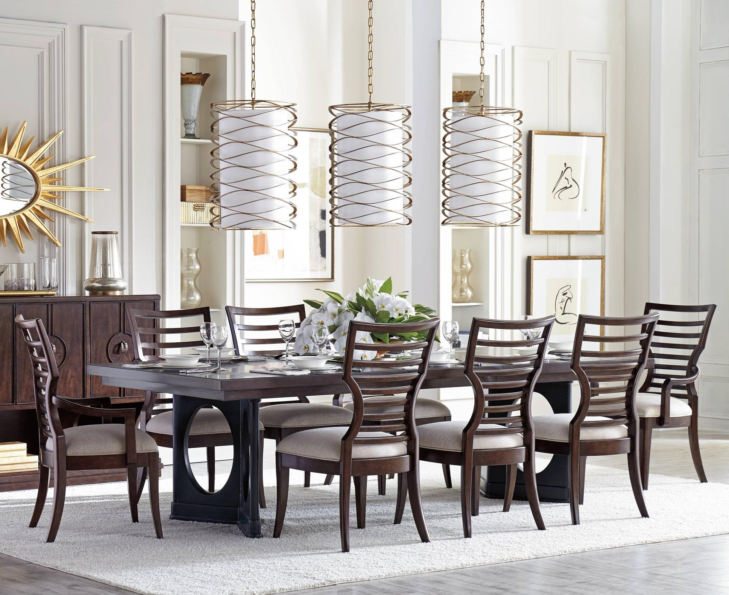 Stanley furniture virage 9 piece double pedestal dining for 11 piece dining table set