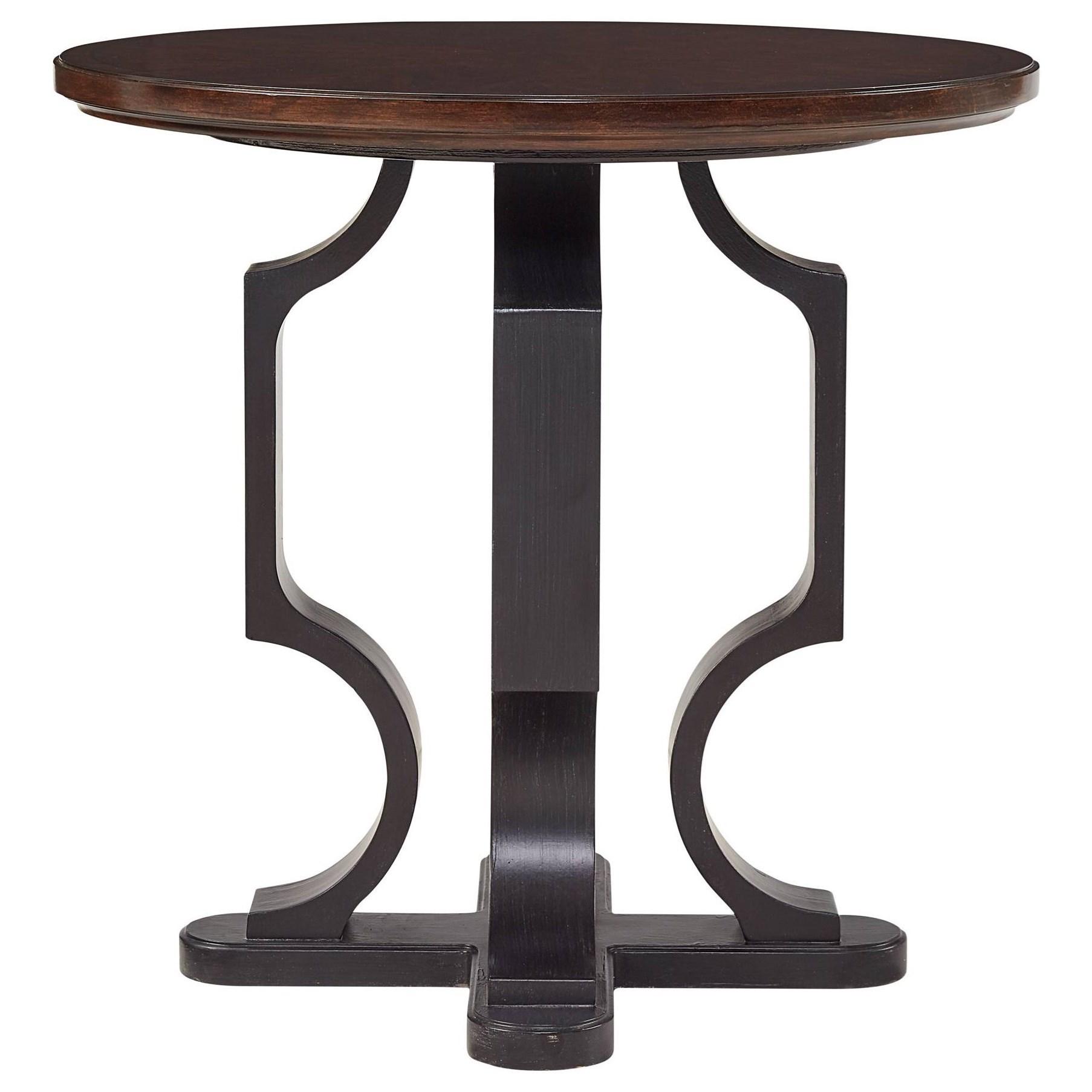 Stanley Furniture Virage 696 15 14 Round Lamp Table Baer