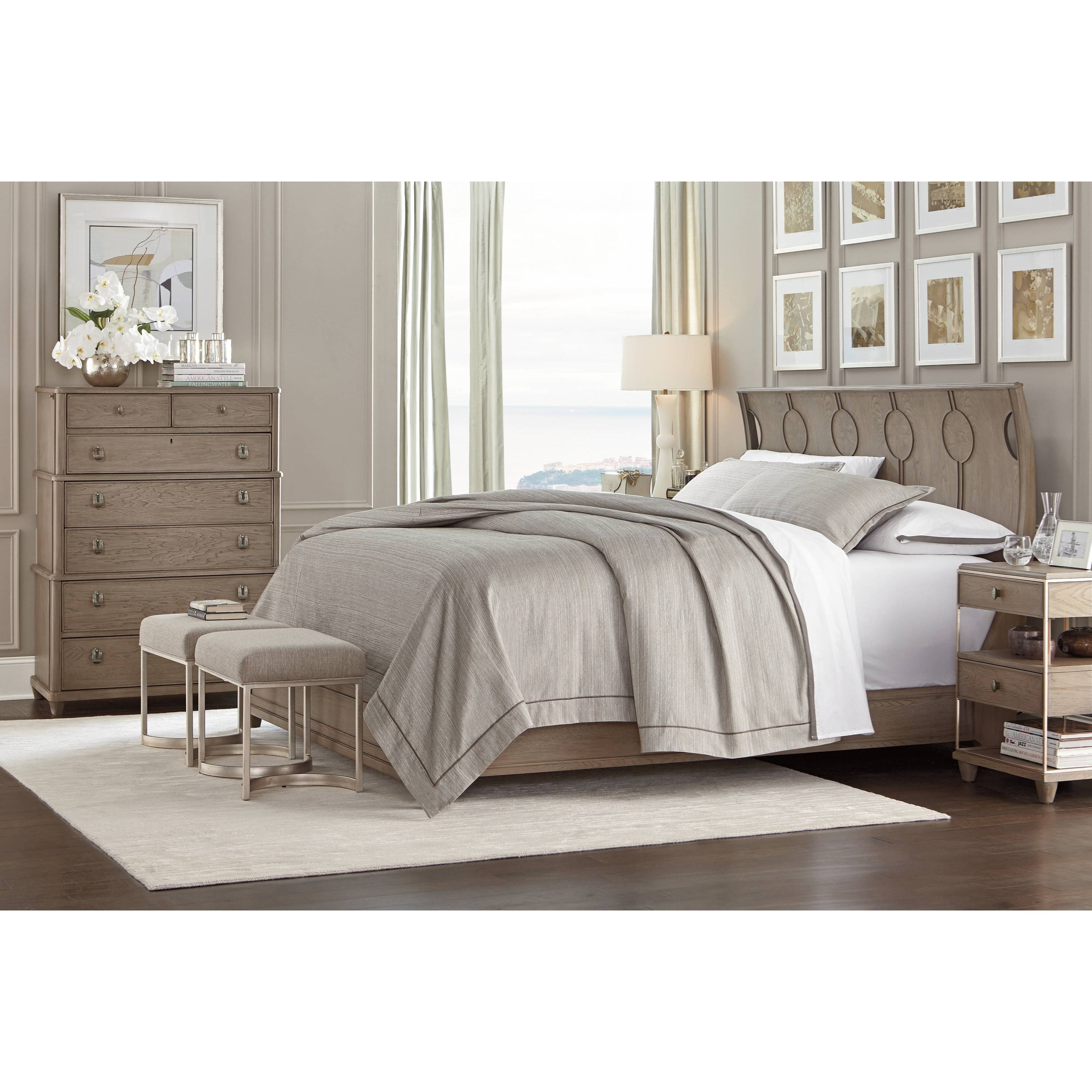Stanley furniture virage queen bedroom group belfort for Bedroom furniture groups