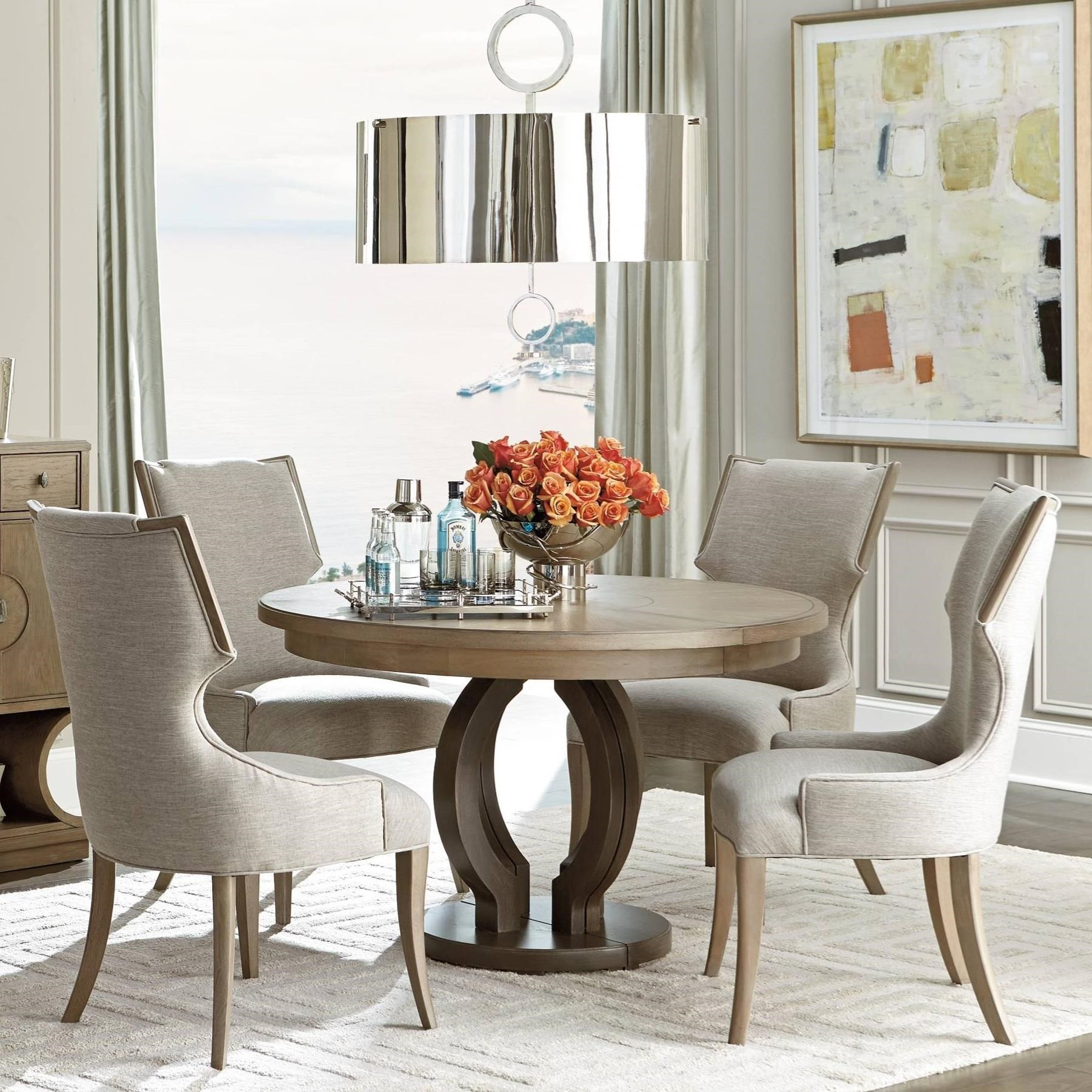 stanley furniture virage 5 piece round dining table set. Black Bedroom Furniture Sets. Home Design Ideas