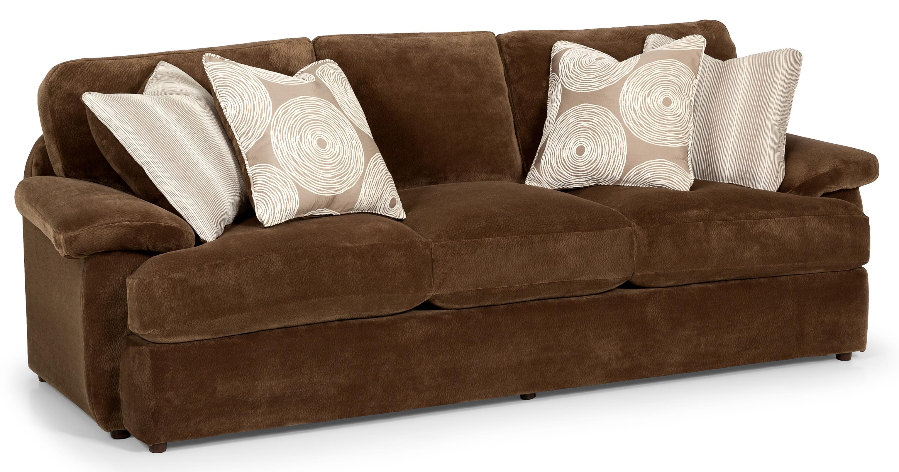 Stanton 186 Casual Three Over Three Sofa With Feather