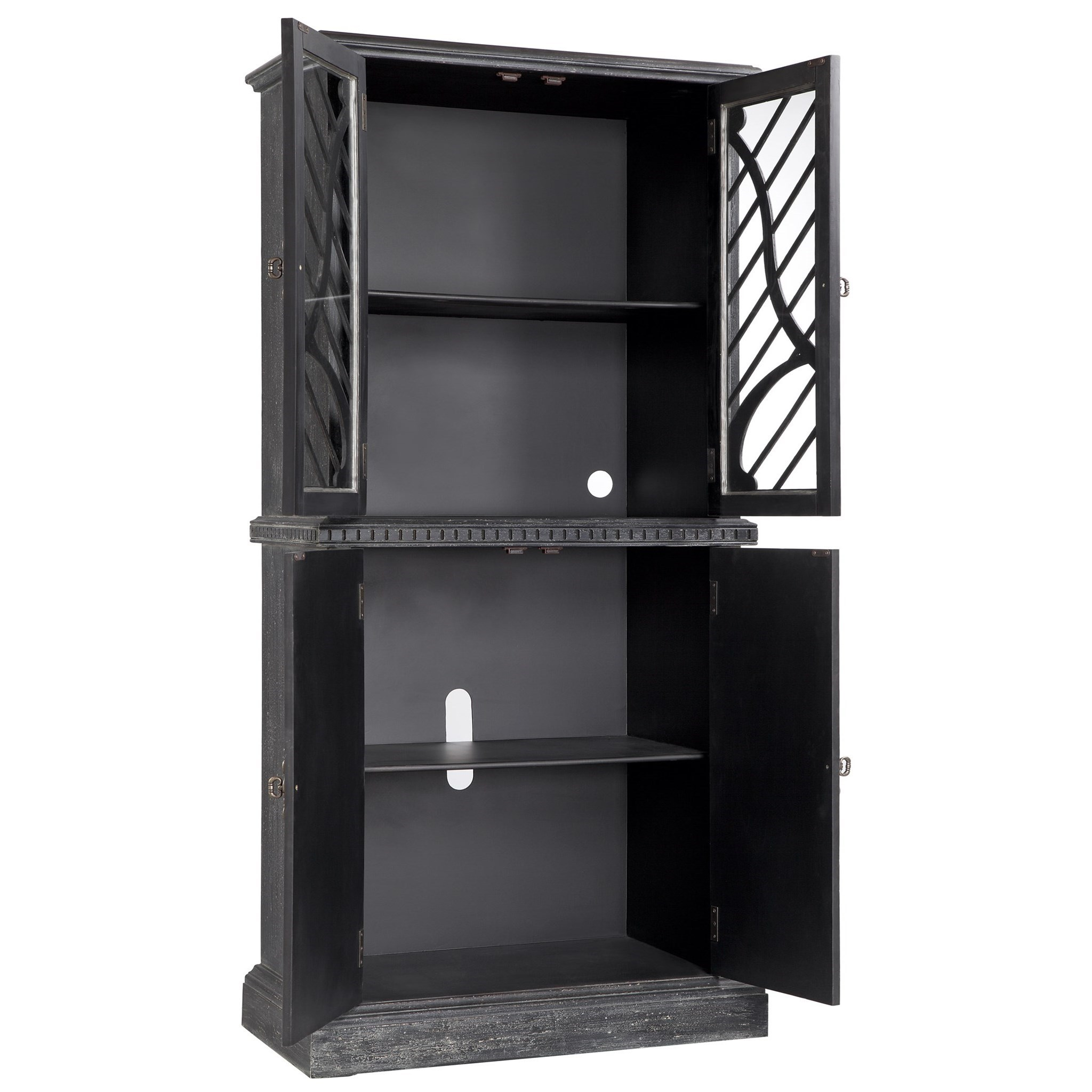 Cabinets 4 door tall cabinet morris home accent chests for Morris home