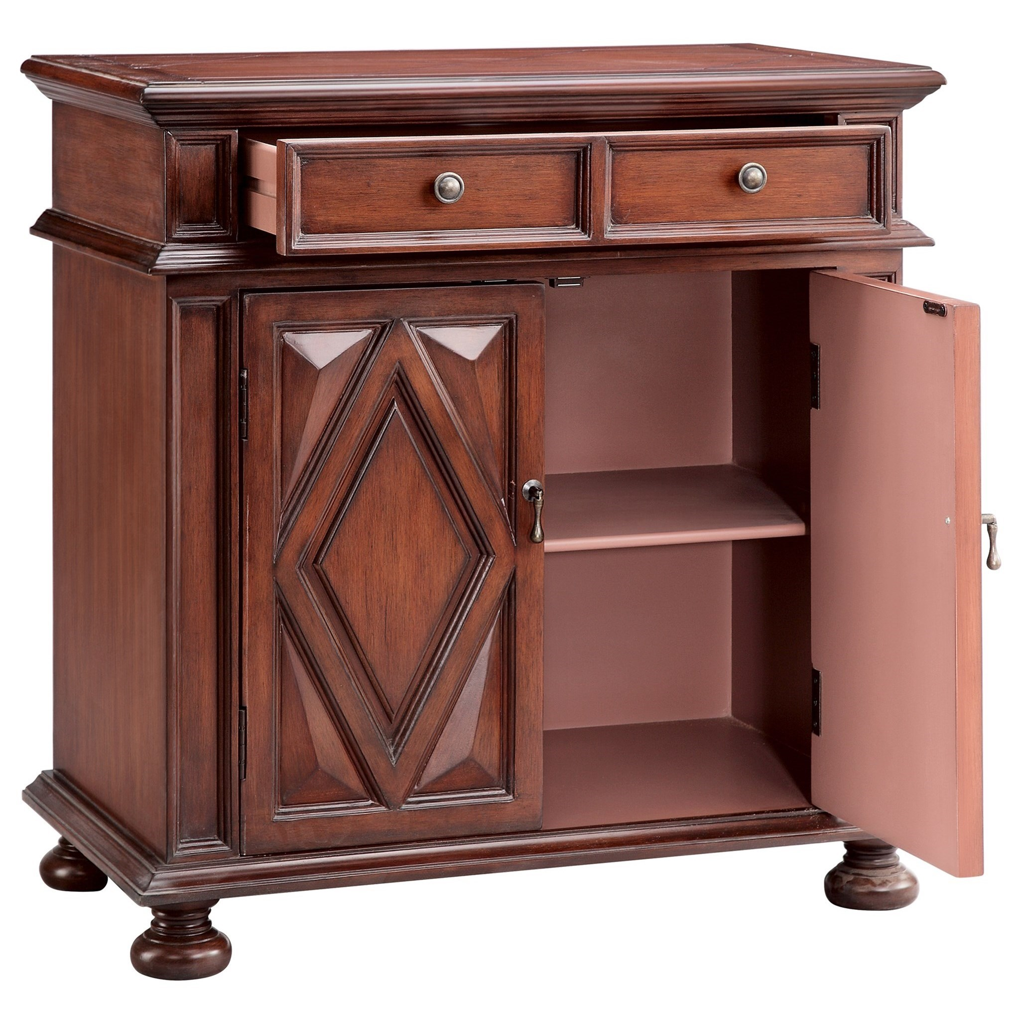 Cabinets 2 door 2 drawer cabinet morris home accent for Morris home