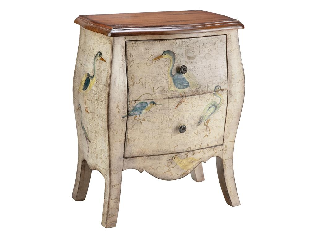 Stein World Chests Accent Chest 2 Drawer Script With Birds